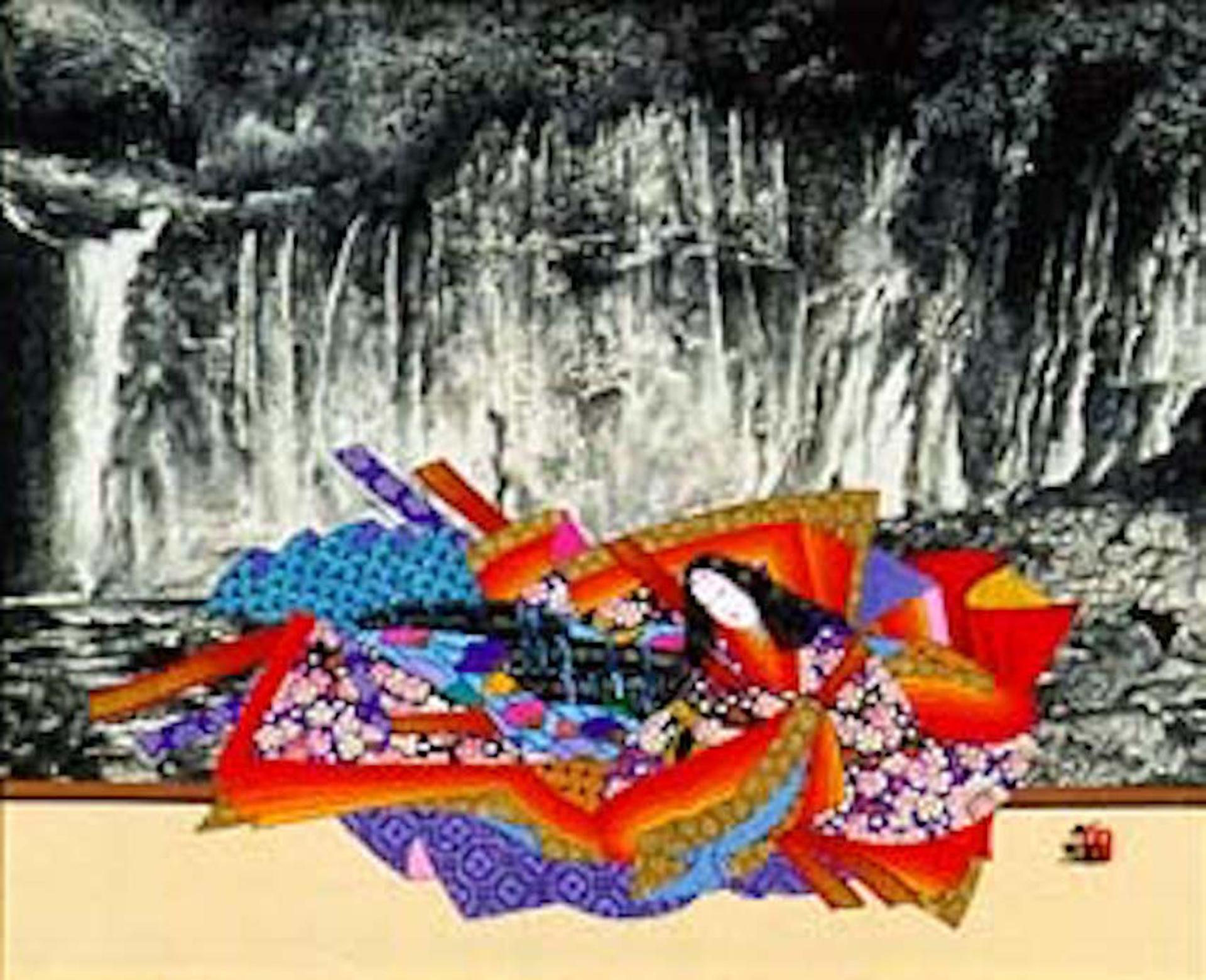 Sei Shonagon - Waterfall by Hisashi Otsuka