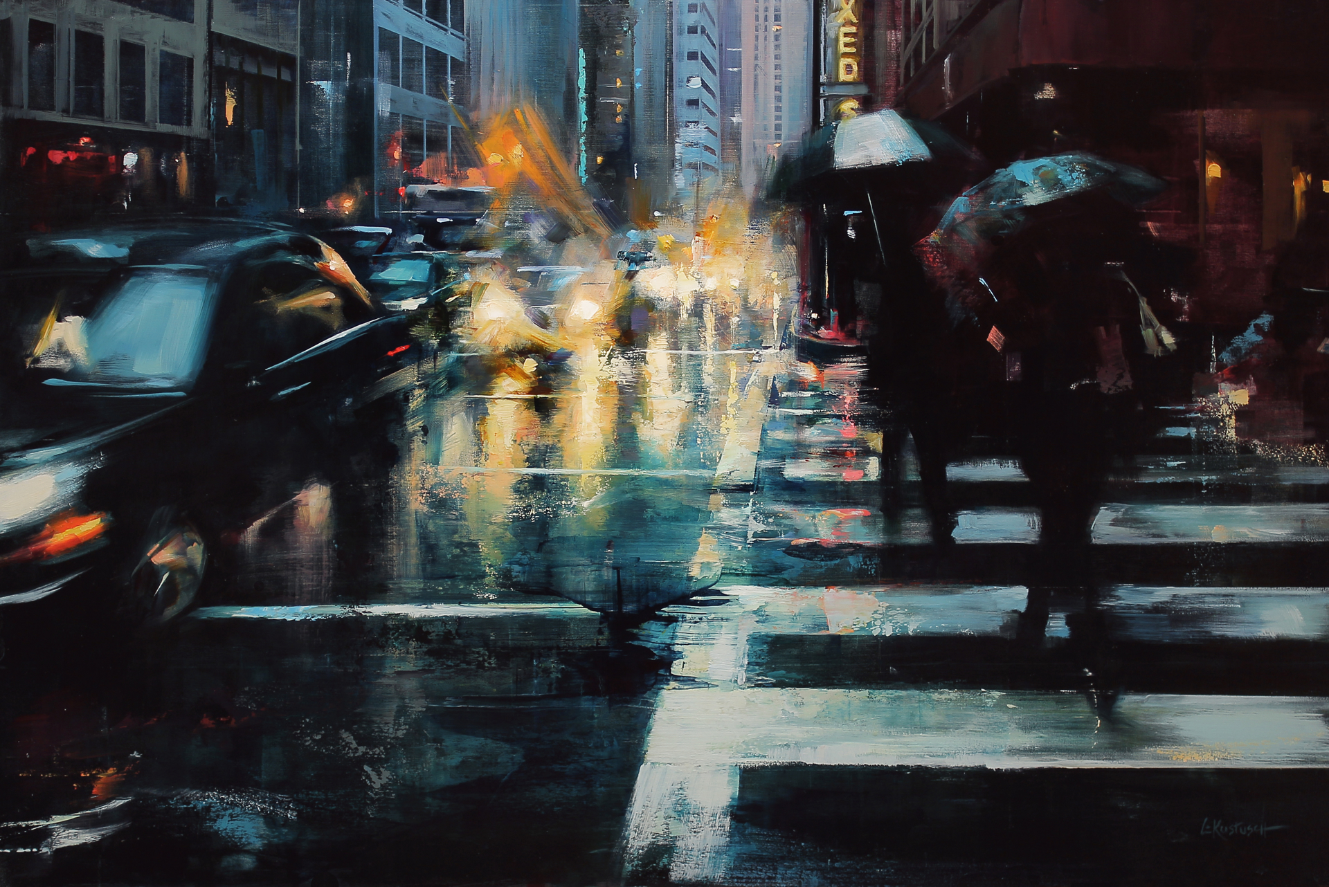 But the Rain Continued by Lindsey Kustusch