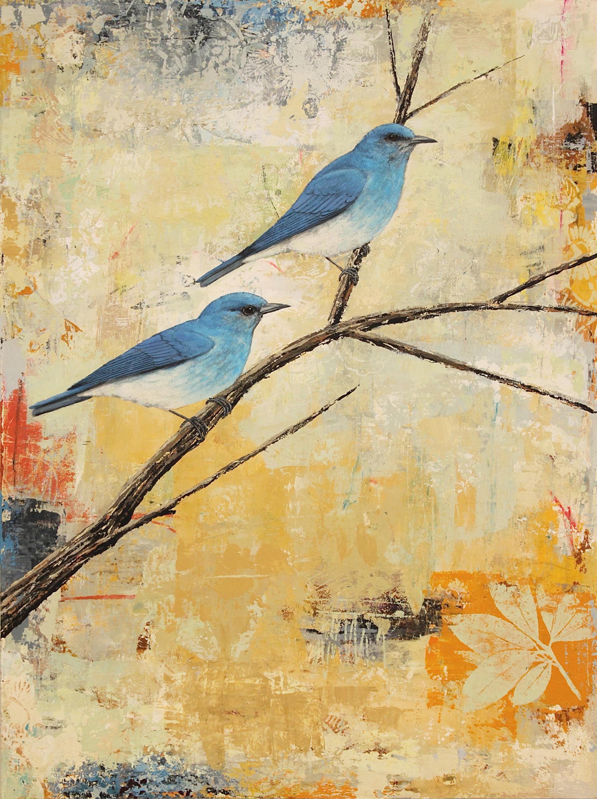 Mountain Bluebirds 3 by Paul Brigham