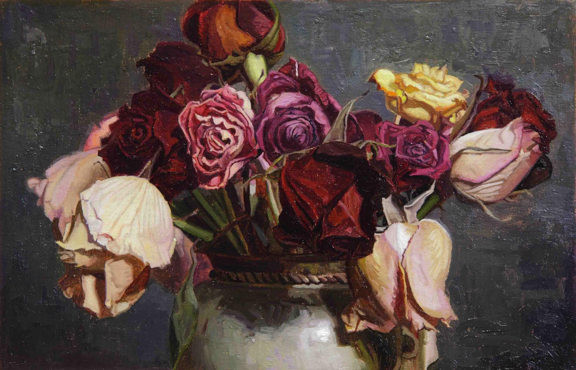 Still Life with Dead Roses by Greg Gandy