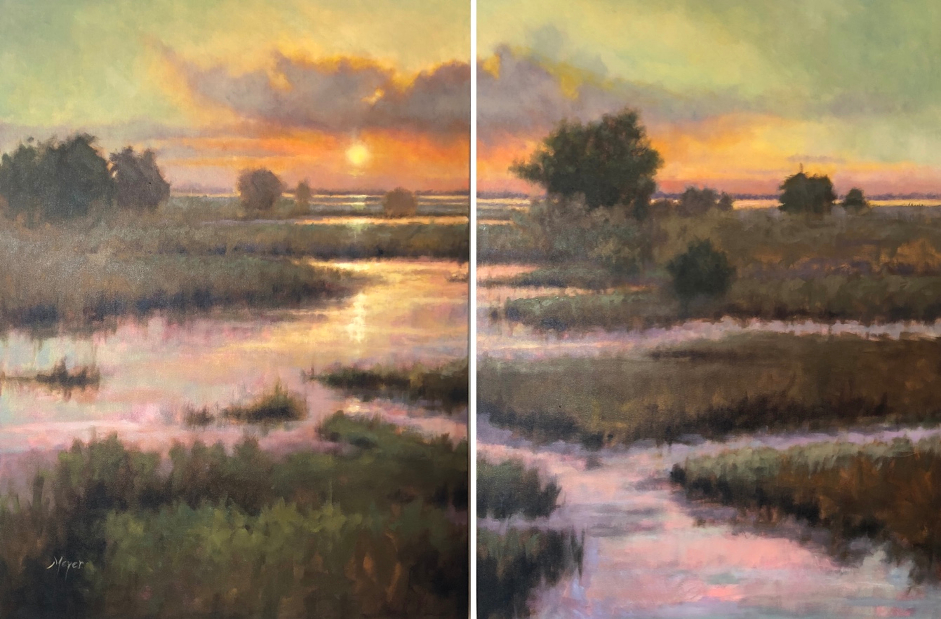 Mandarin Creek, I & II by Laurie Meyer