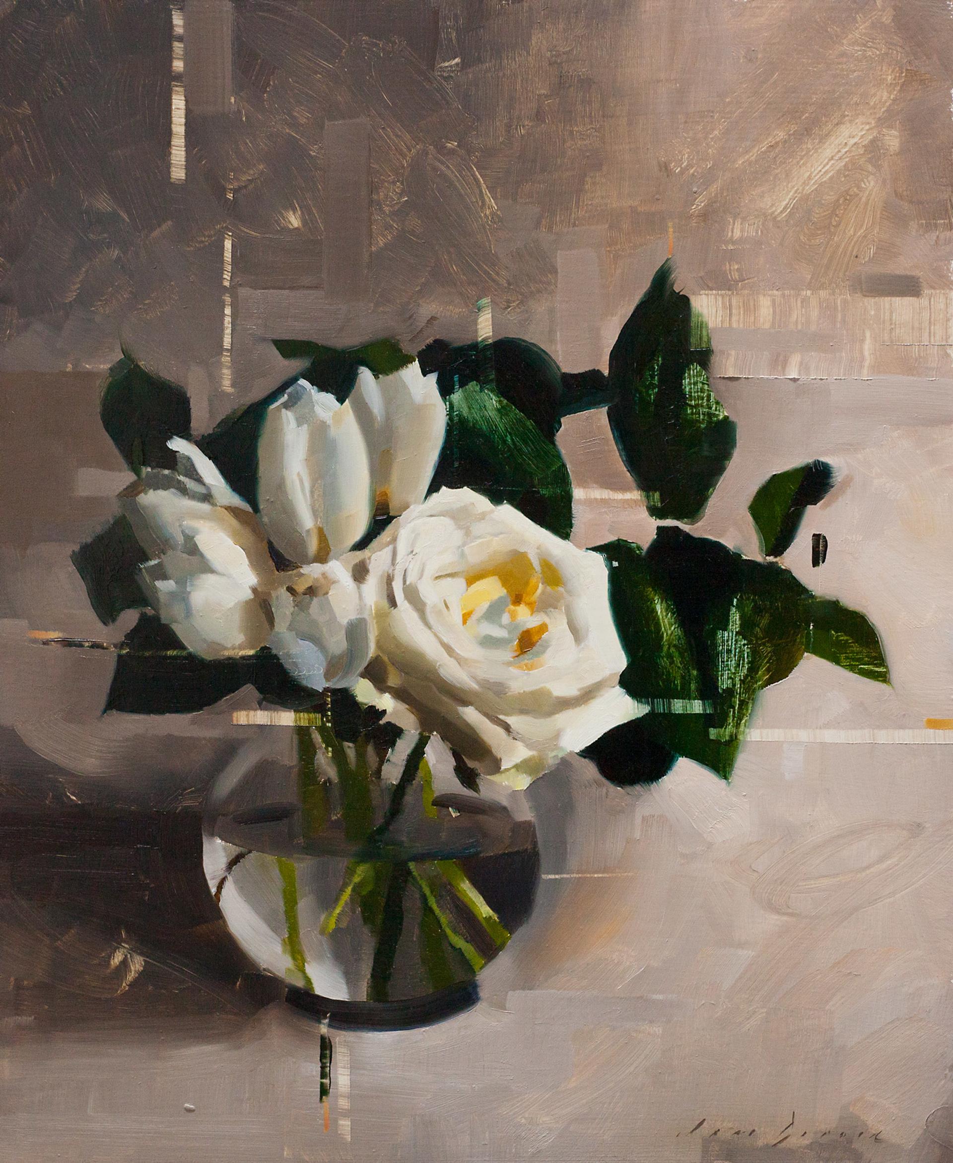 White Rose and Tulips by Jon Doran
