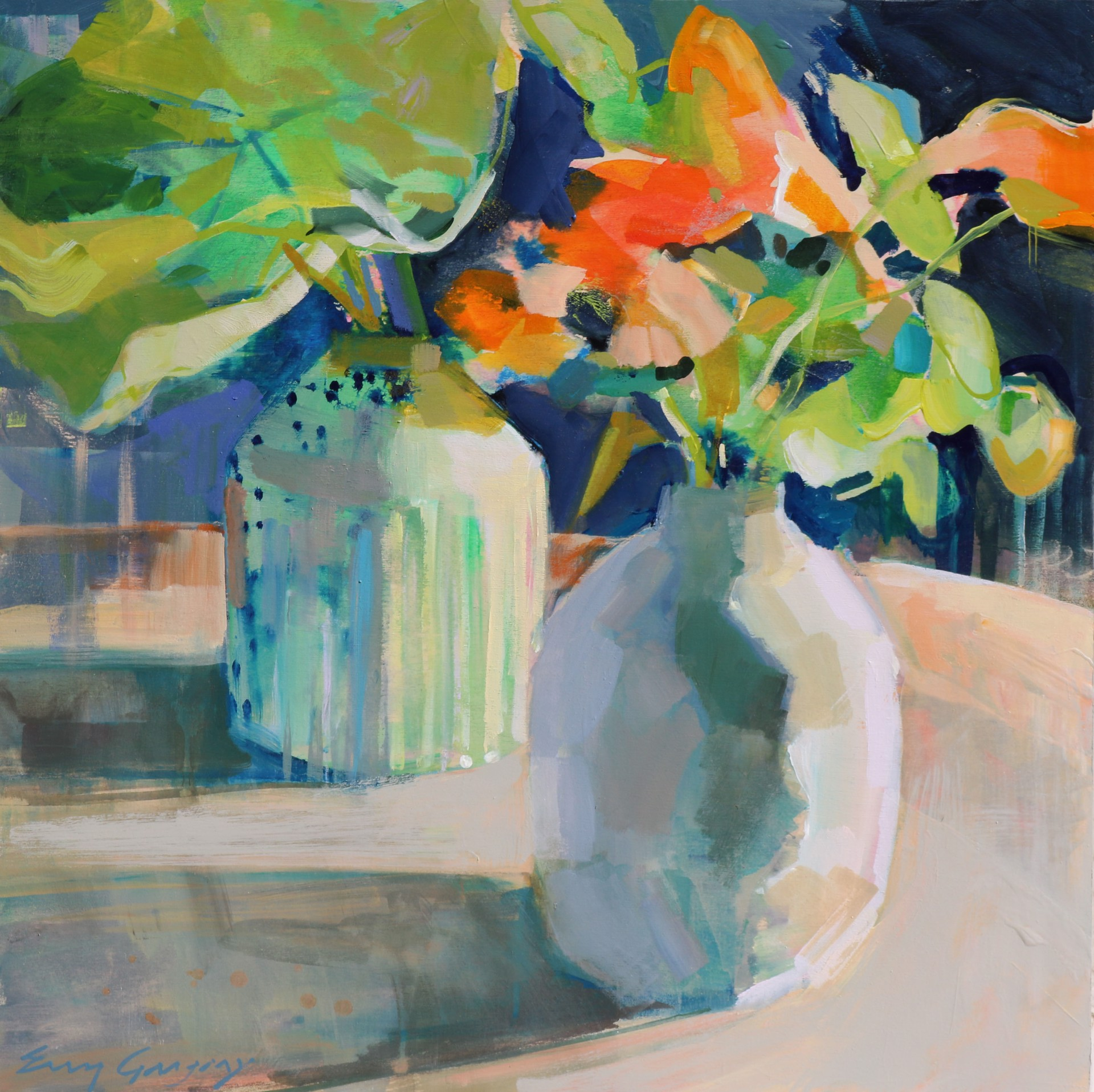 Nasturtium Obsession 1 by Erin Gregory
