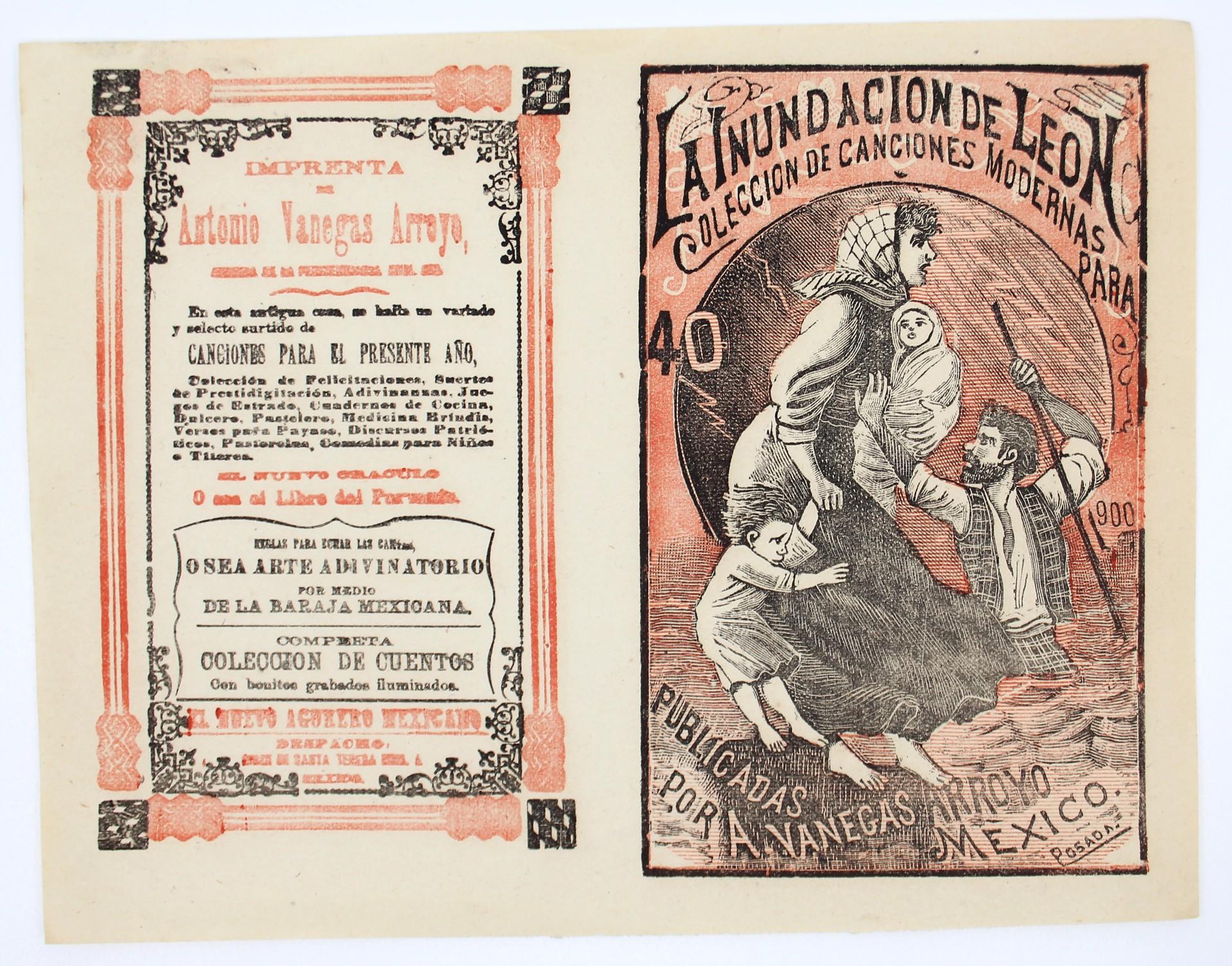 La Inundacion de Leon, Colección de canciones modernas, No. 40 by José Guadalupe Posada (1852 - 1913)