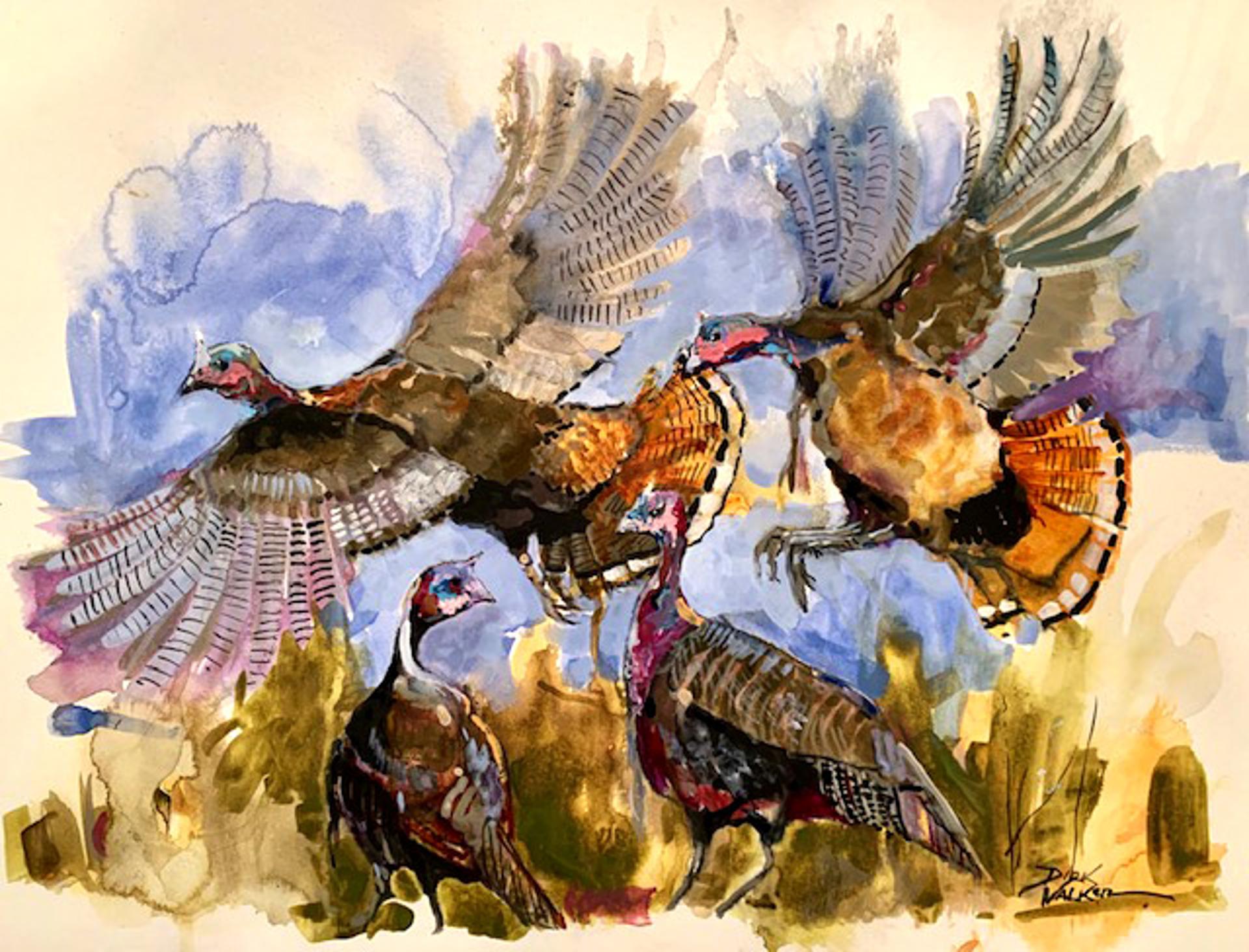 Wild Turkeys by Dirk Walker