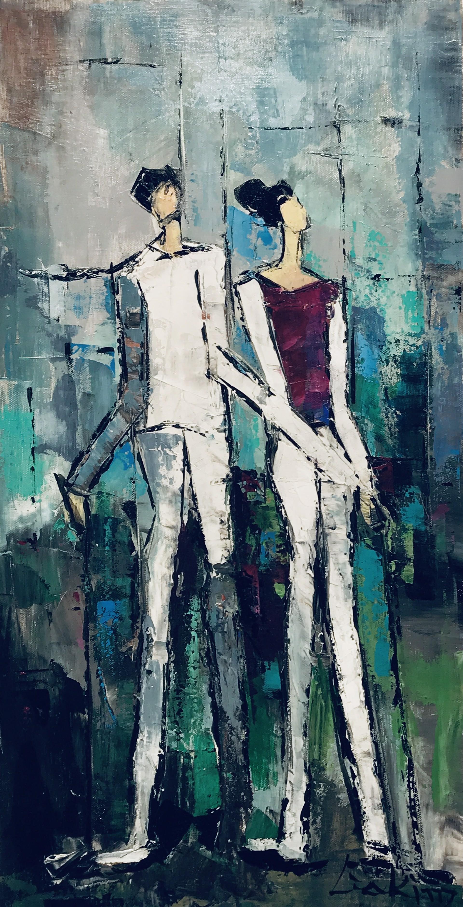 GOLFING COUPLE II by LIA KIM