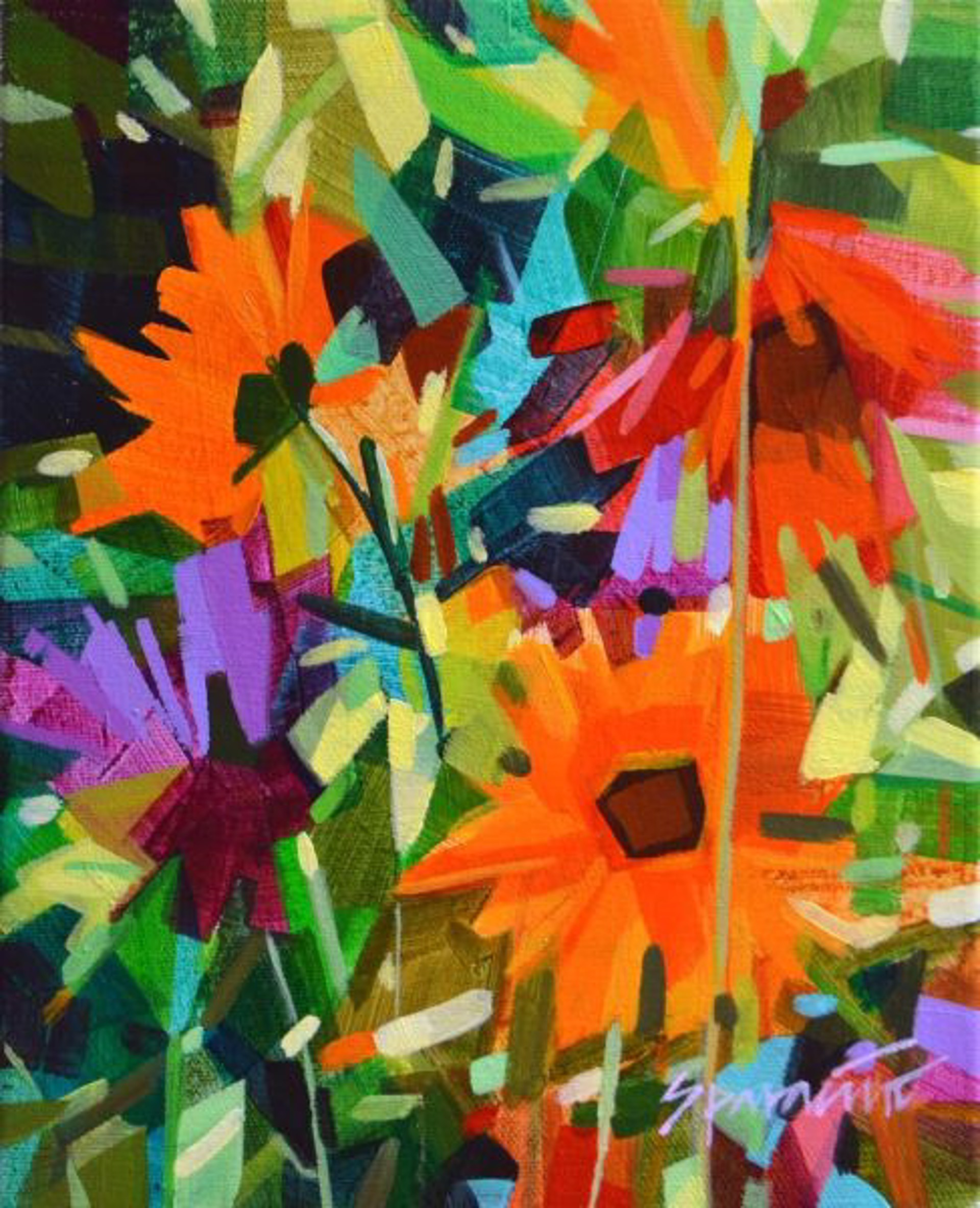 Wild Daisy Garden by JENNIFER SPARACINO