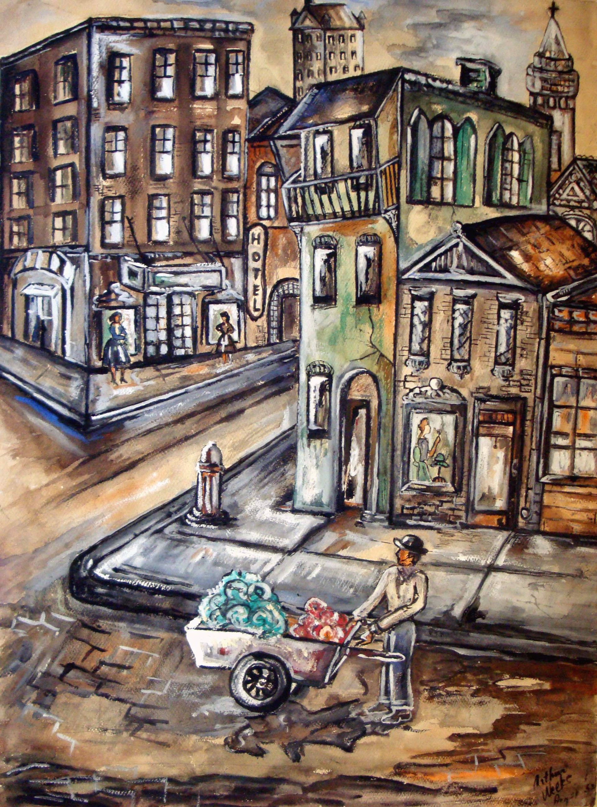 Street Peddler by Arthur Weeks