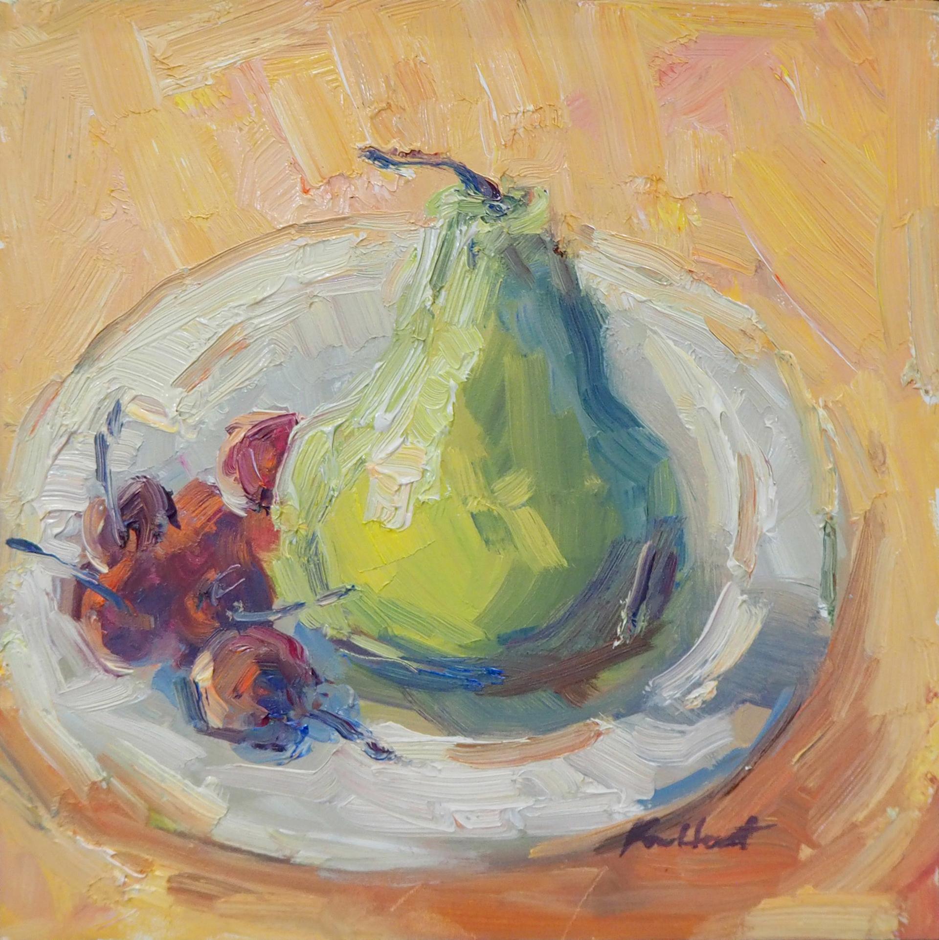 Pear & Cherries in Italy by Karen Hewitt Hagan
