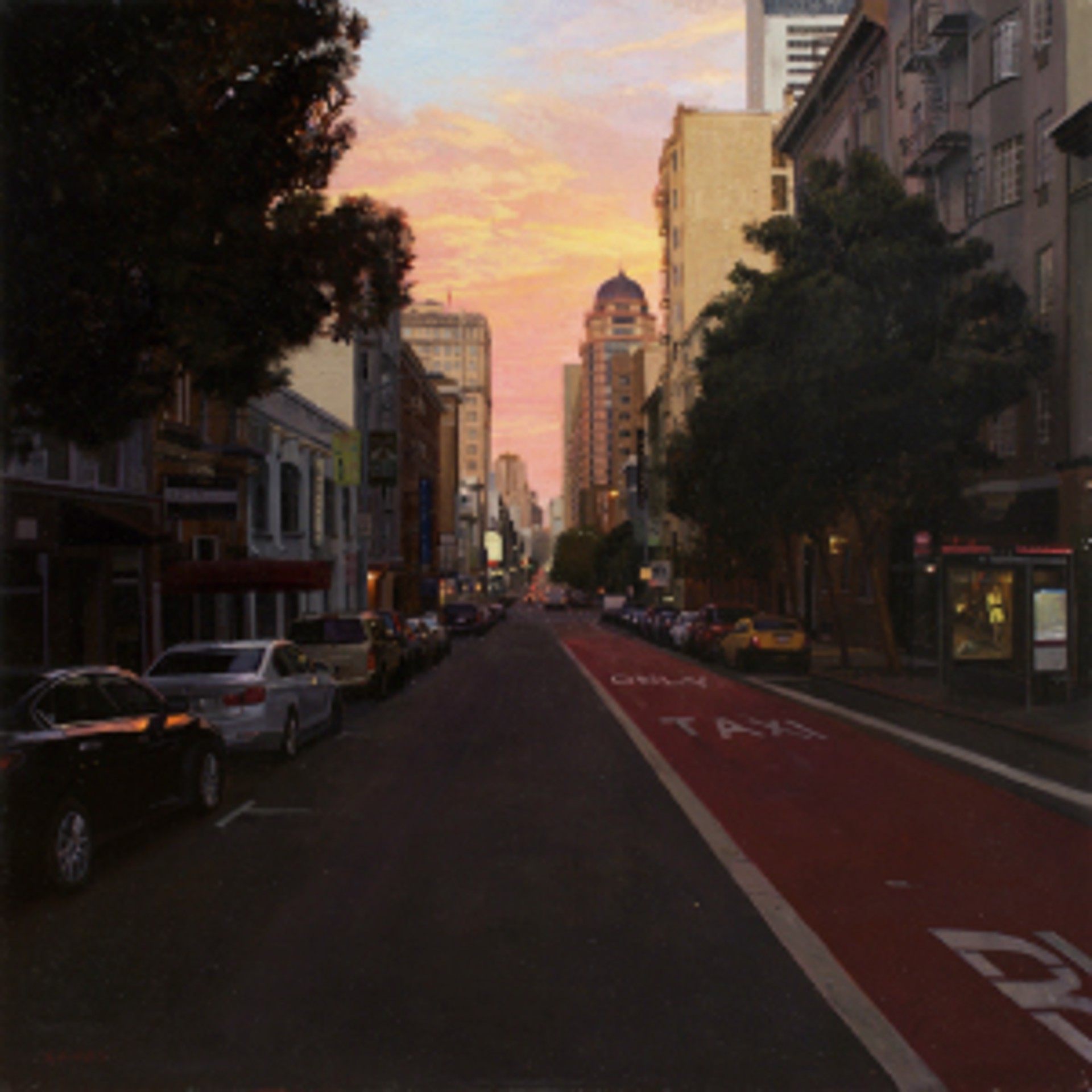 Sunset over Union Square by Greg Gandy