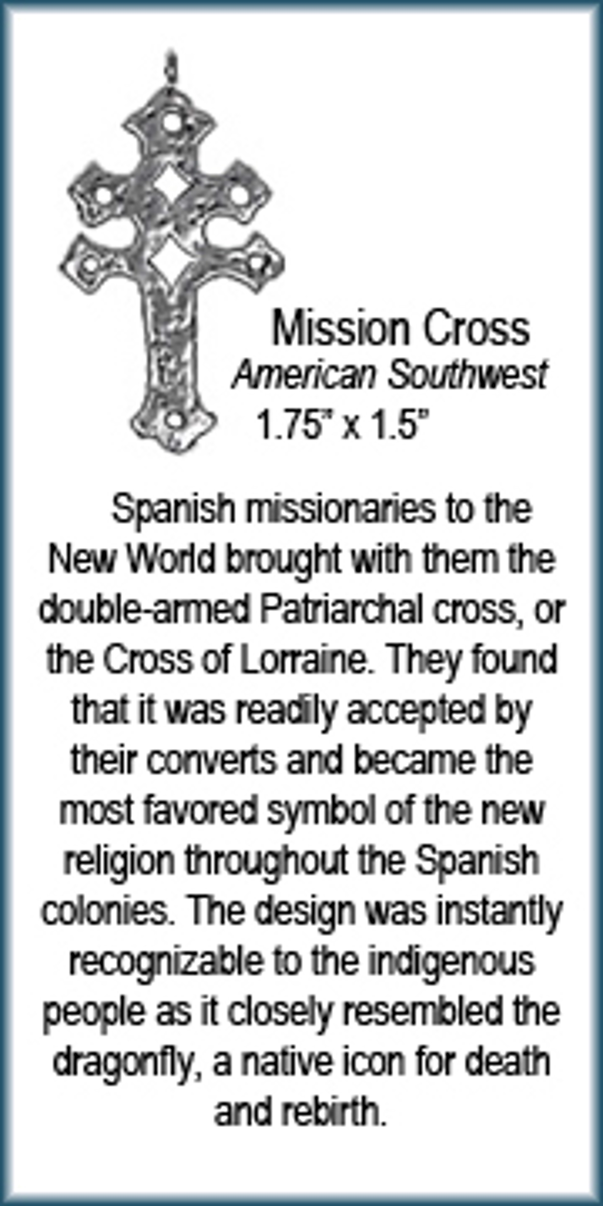 Pendant - Mission Cross - 9438 by Deanne McKeown
