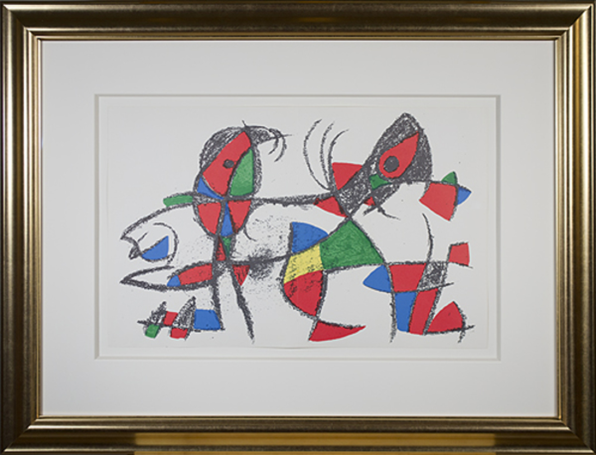 """Original Lithograph X from """"Miro Lithographs II, Maeght Publisher"""" by Joan Miro"""