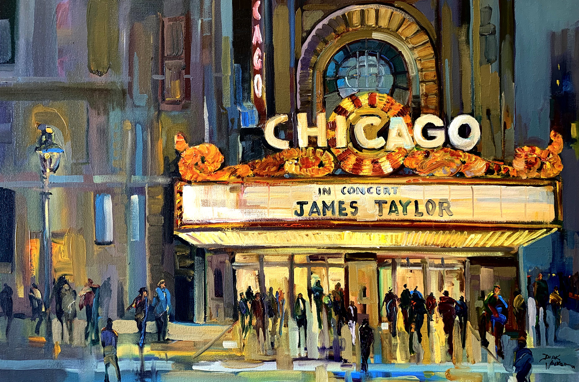 Going to See Sweet Baby James - Chicago Theatre by Dirk Walker