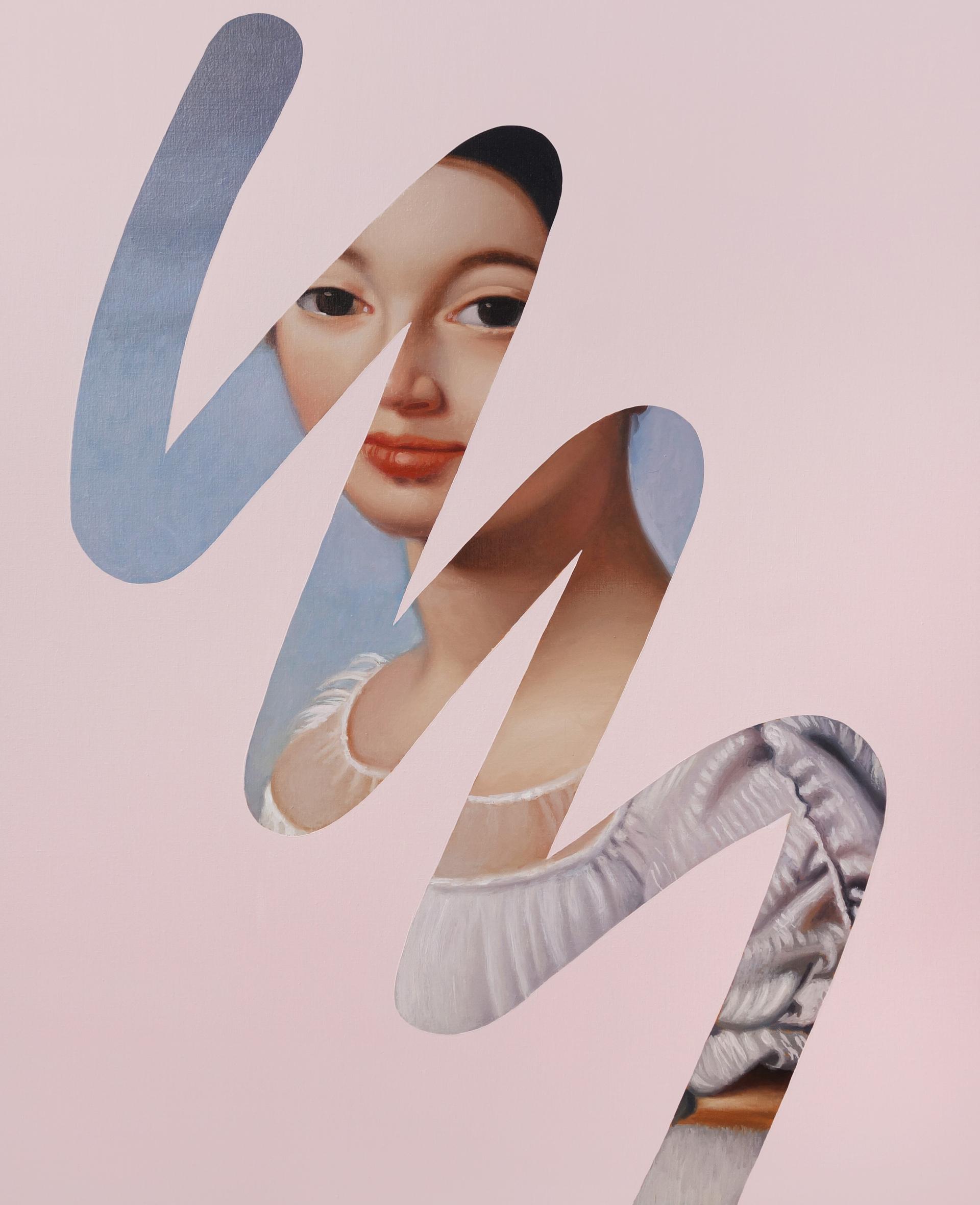 Fake Abstract (Ingres) - pink  by Lino Lago