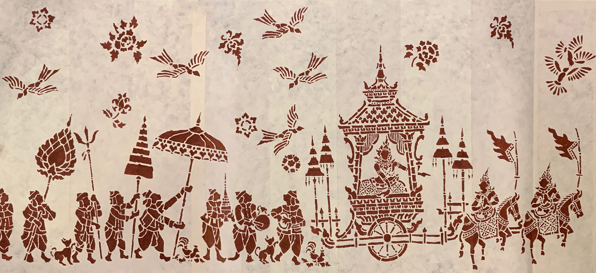 The Vessantara Jataka: Happy Ending Episode, Stencil Positive by Tiao Nithakhong Somsanith