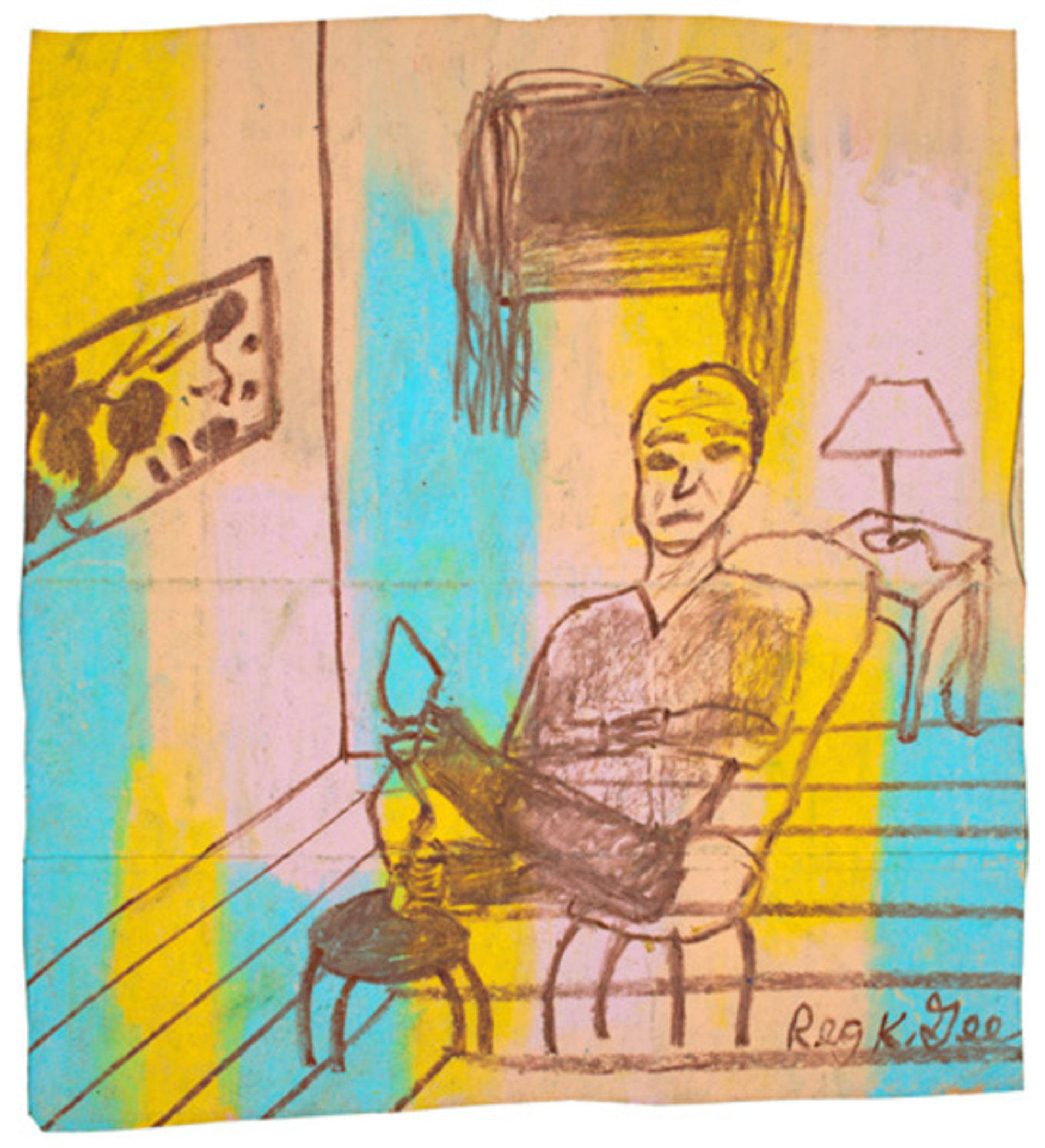 Accented Room Featuring a Man by Reginald K Gee