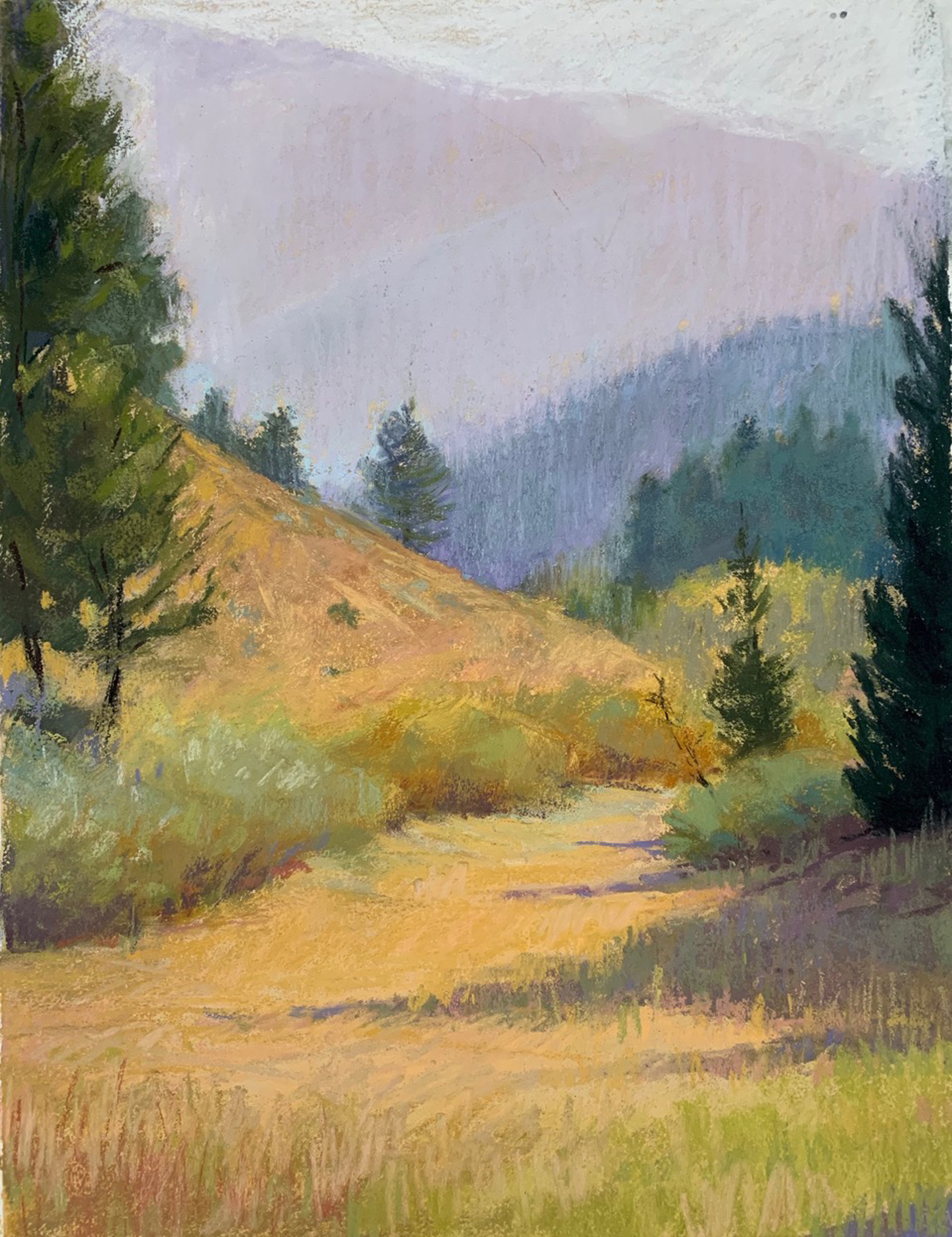 Big Sky Field-Plein Air Study by Lisa Gleim