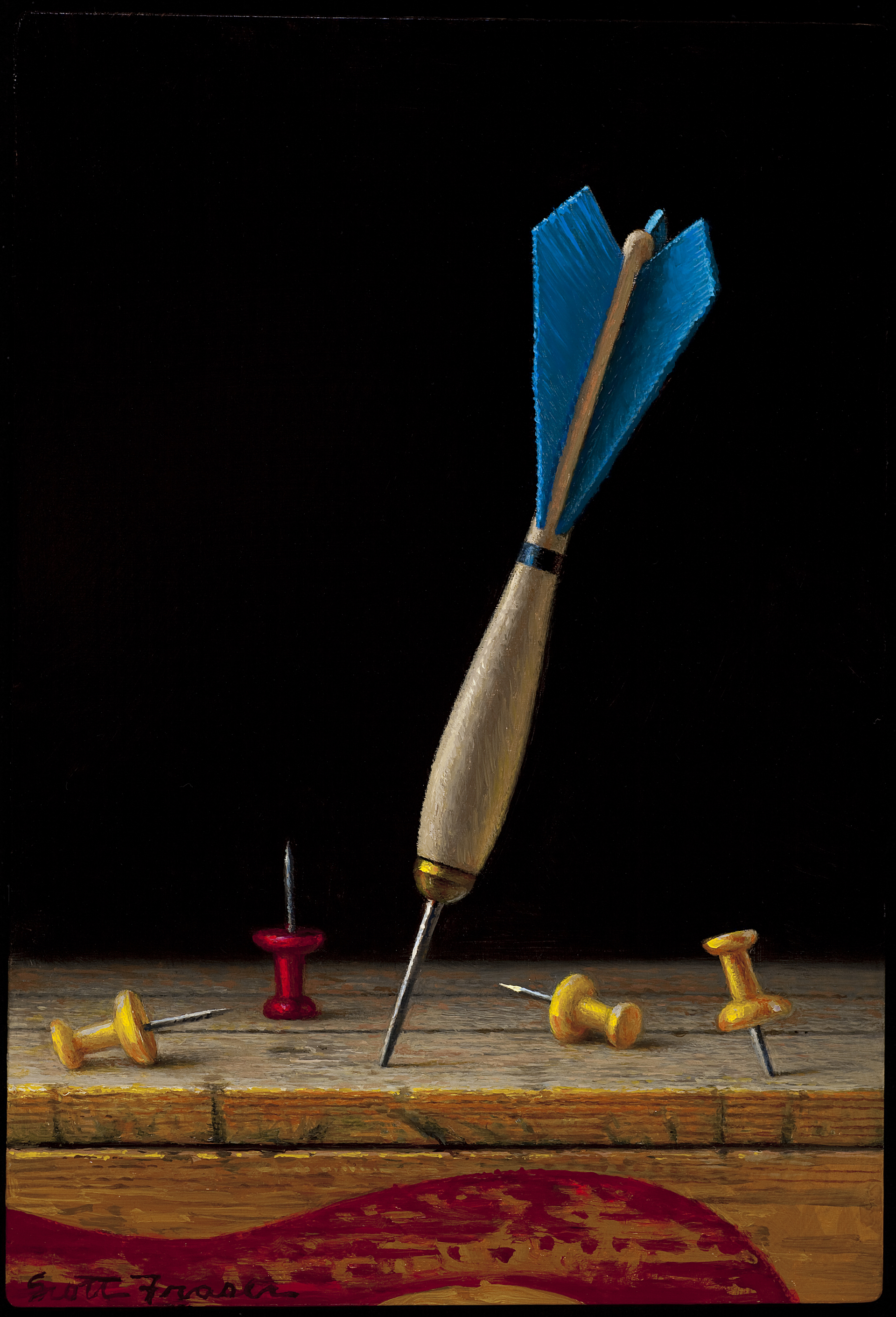 Dart with Push Pins by Scott Fraser