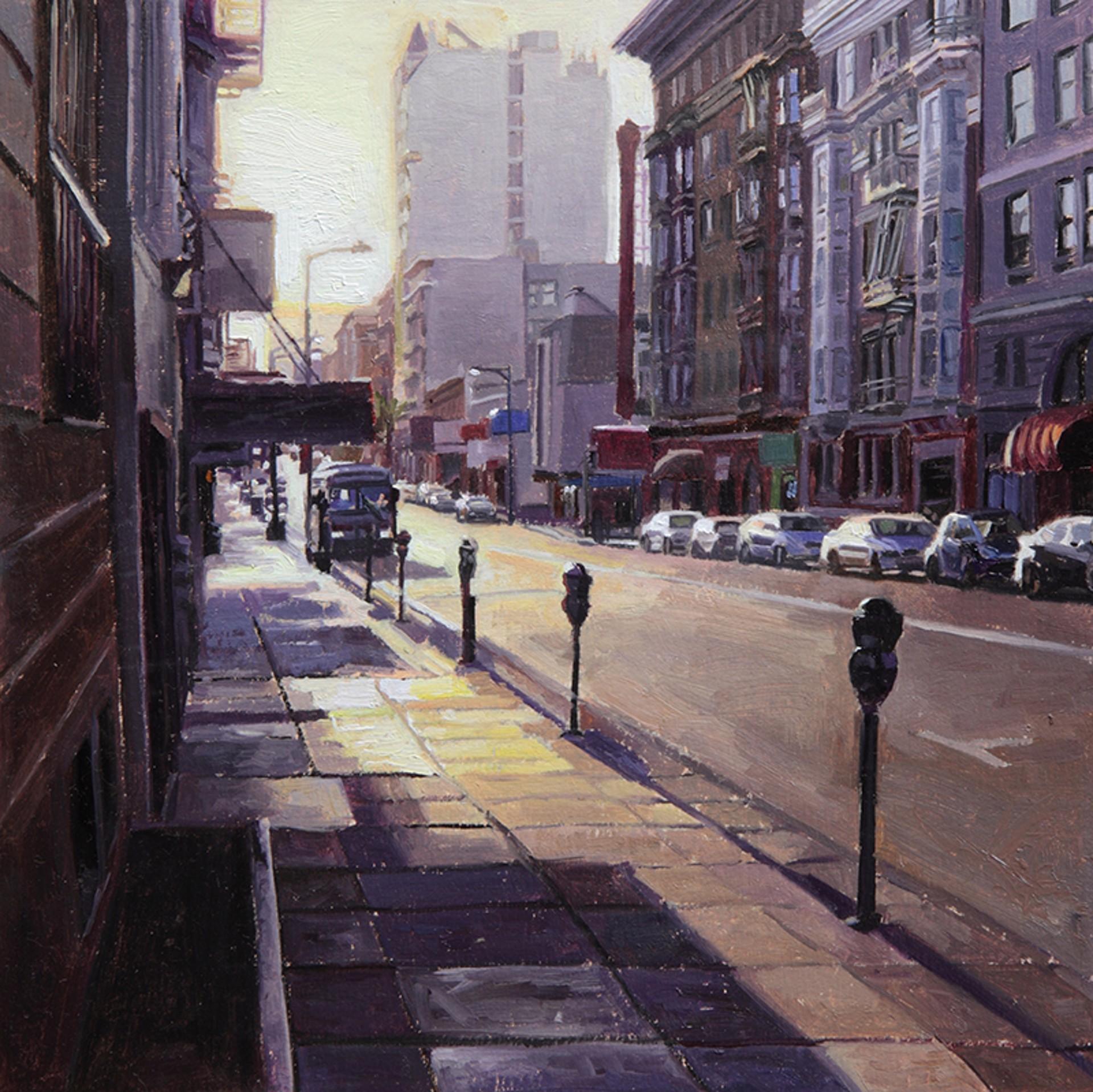 Sunrise on Geary Street by Greg Gandy
