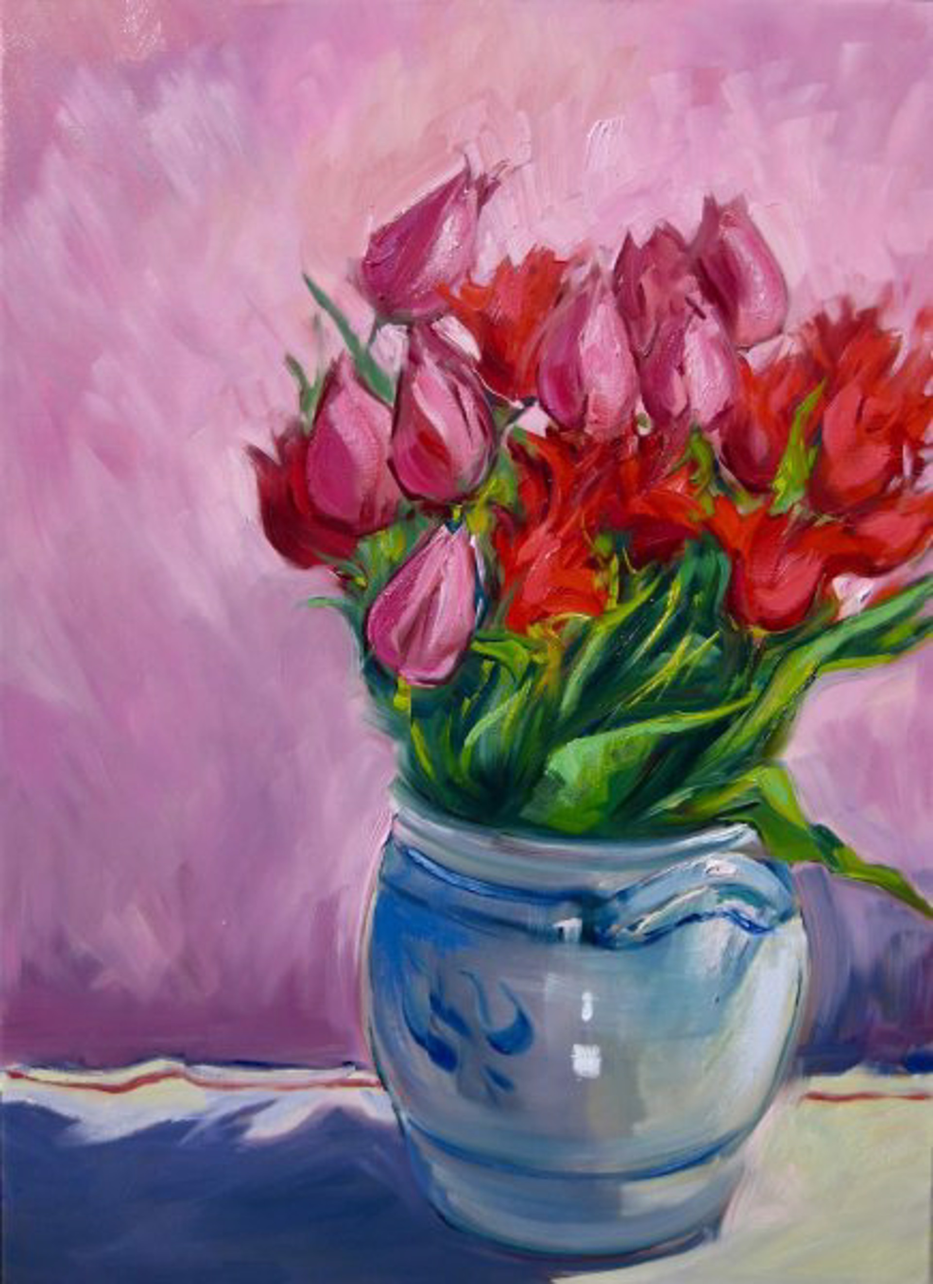 Red Tulips by Maria Bertrán