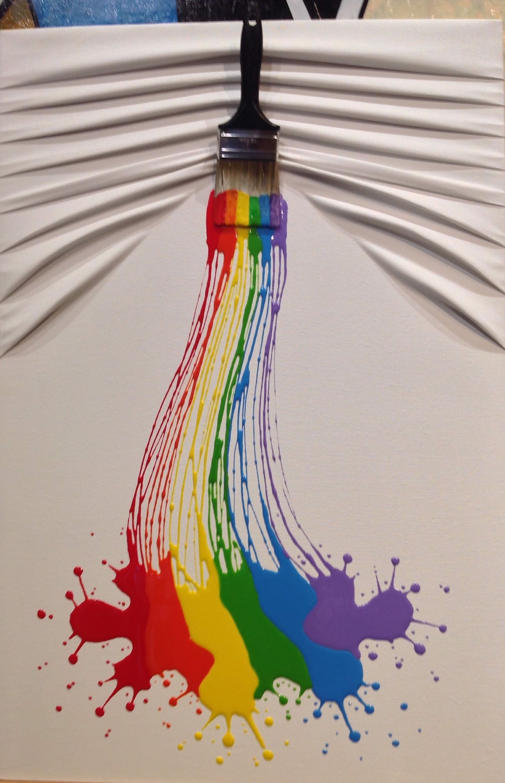 """Lets Paint"" Medium Rainbow on White by Efi Mashiah"