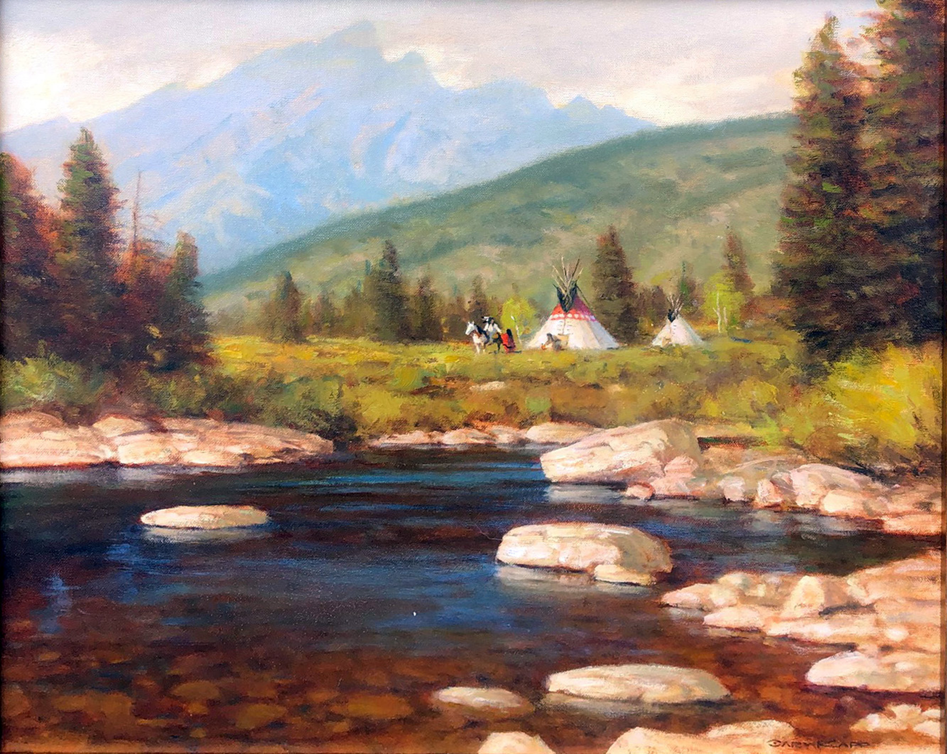 In the Valley of the Shining Mountains by Gary Kapp