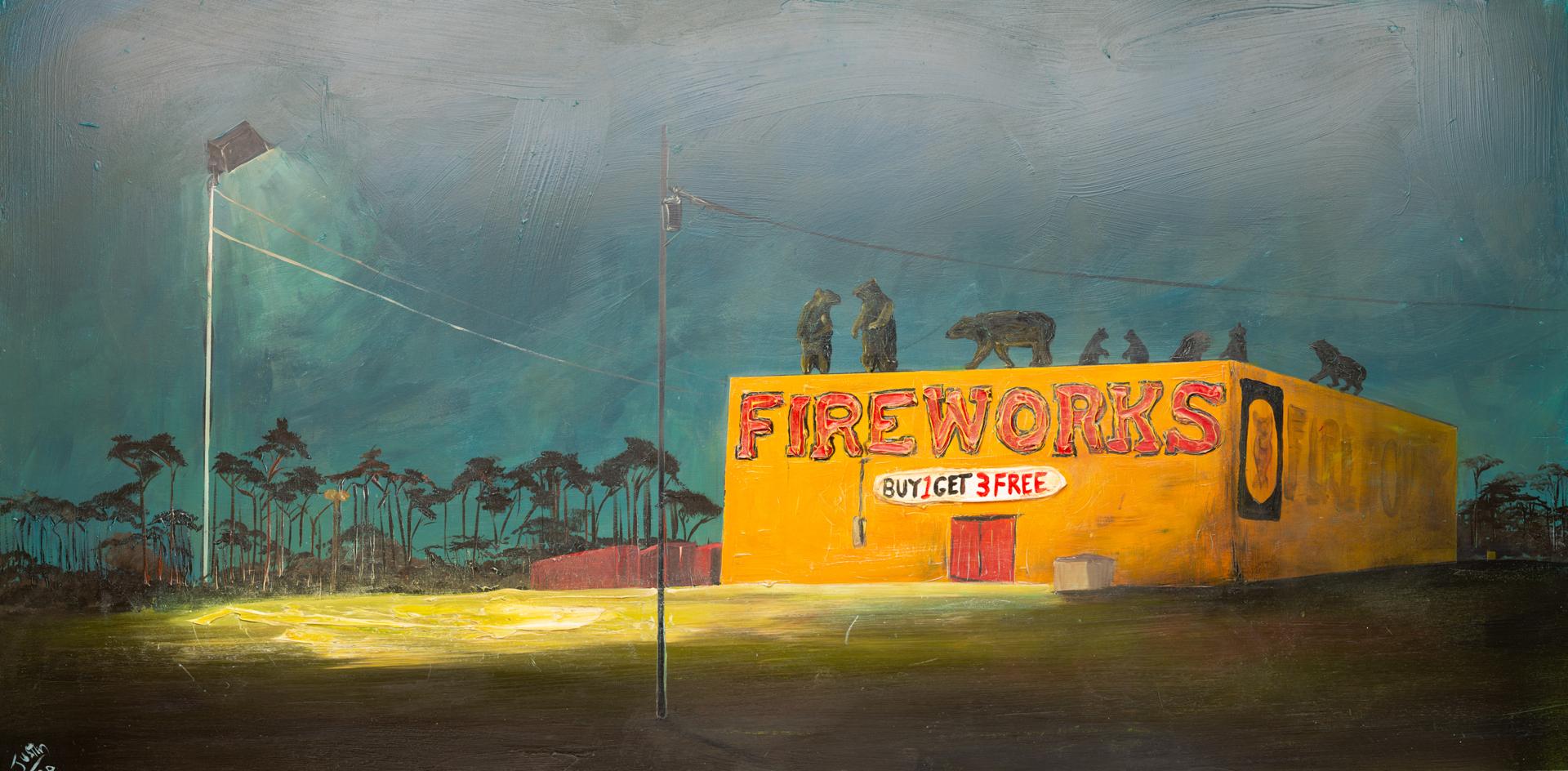 SEALE FIREWORKS-72X36-2020-034 by JUSTIN GAFFREY