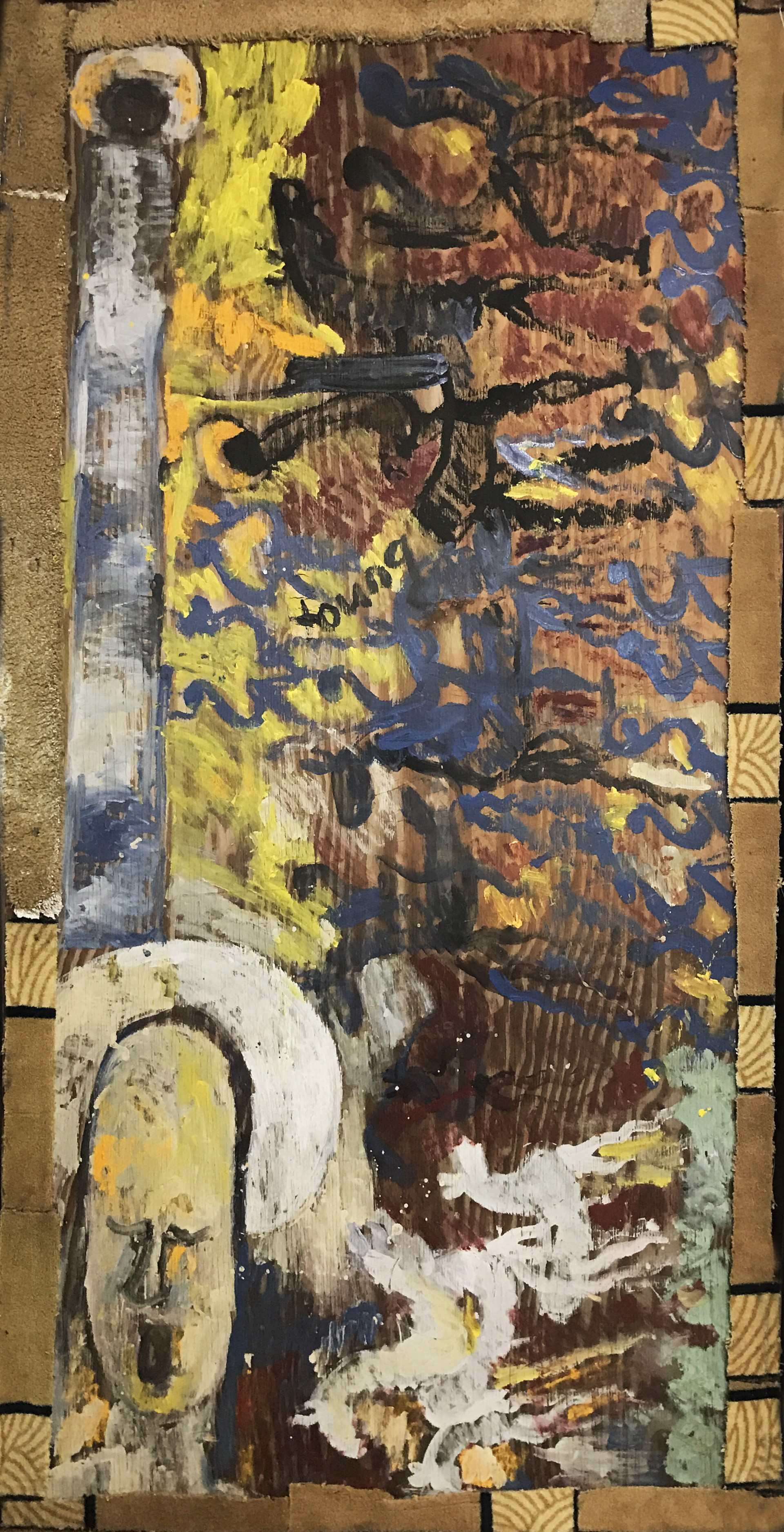 NOT FOR SALE - Saint Michael's Battle by Purvis Young (1943 - 2010)