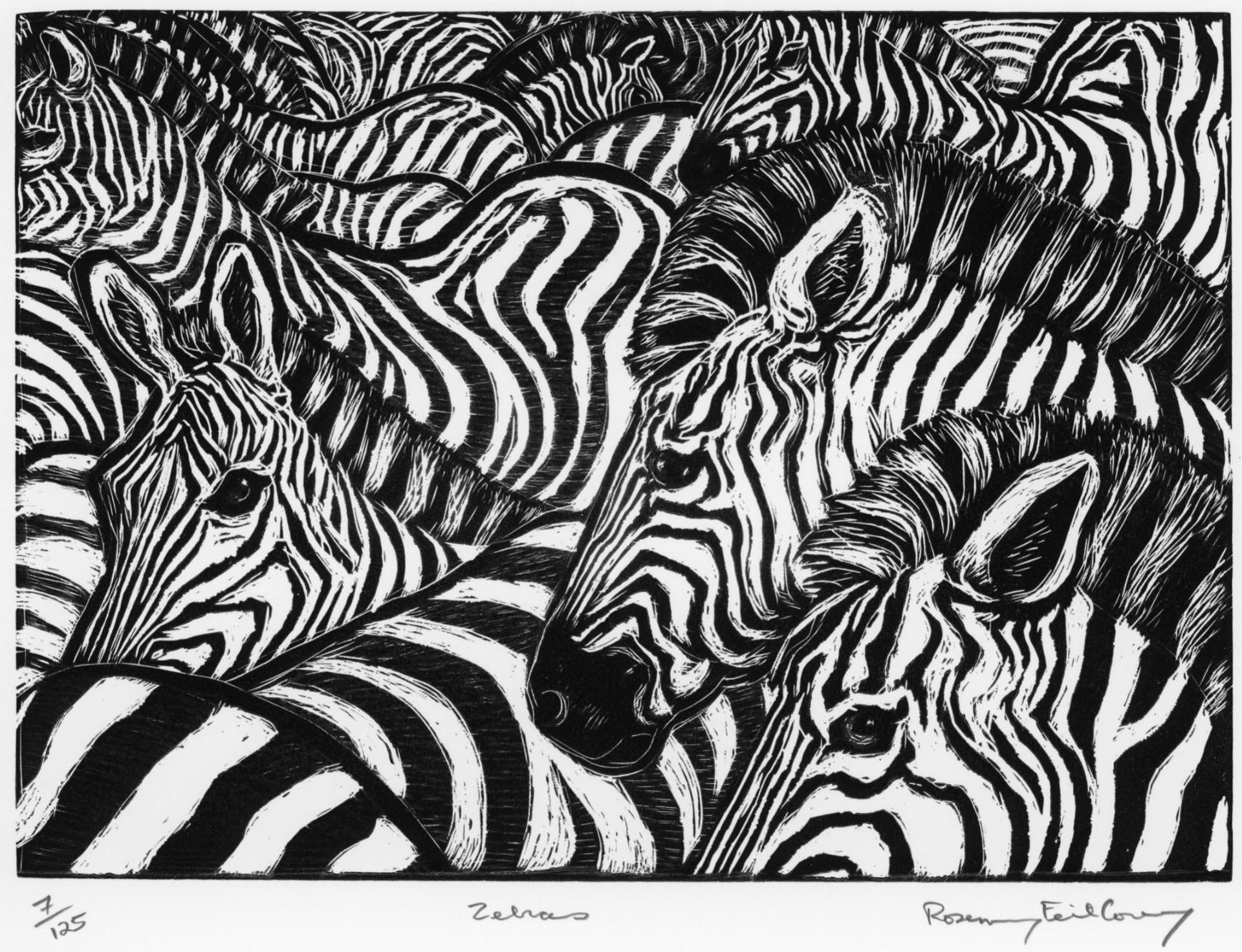 Zebras by Rosemary Feit Covey