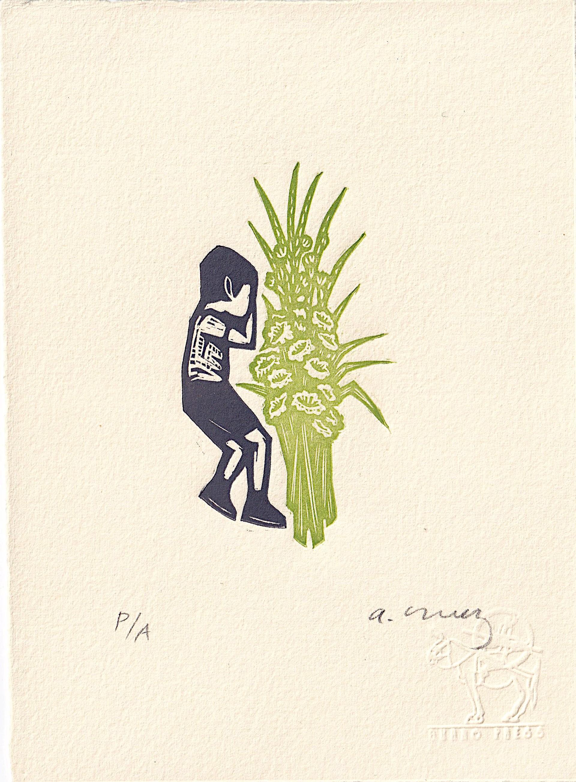 Untitled (Dormido con Flores) by Alberto Cruz