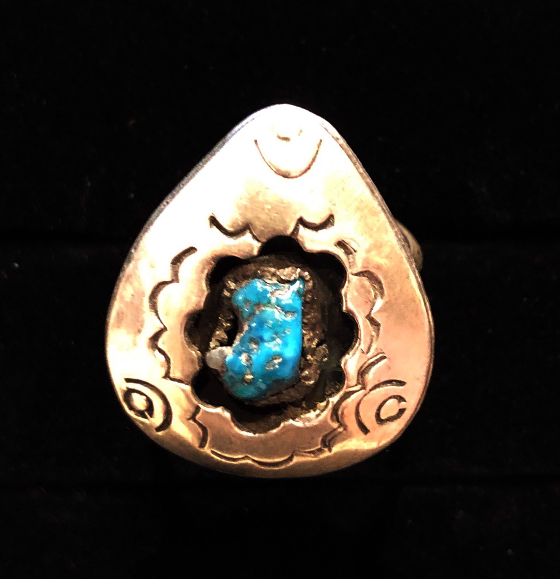 Turquoise & Silver Shadowbox Ring