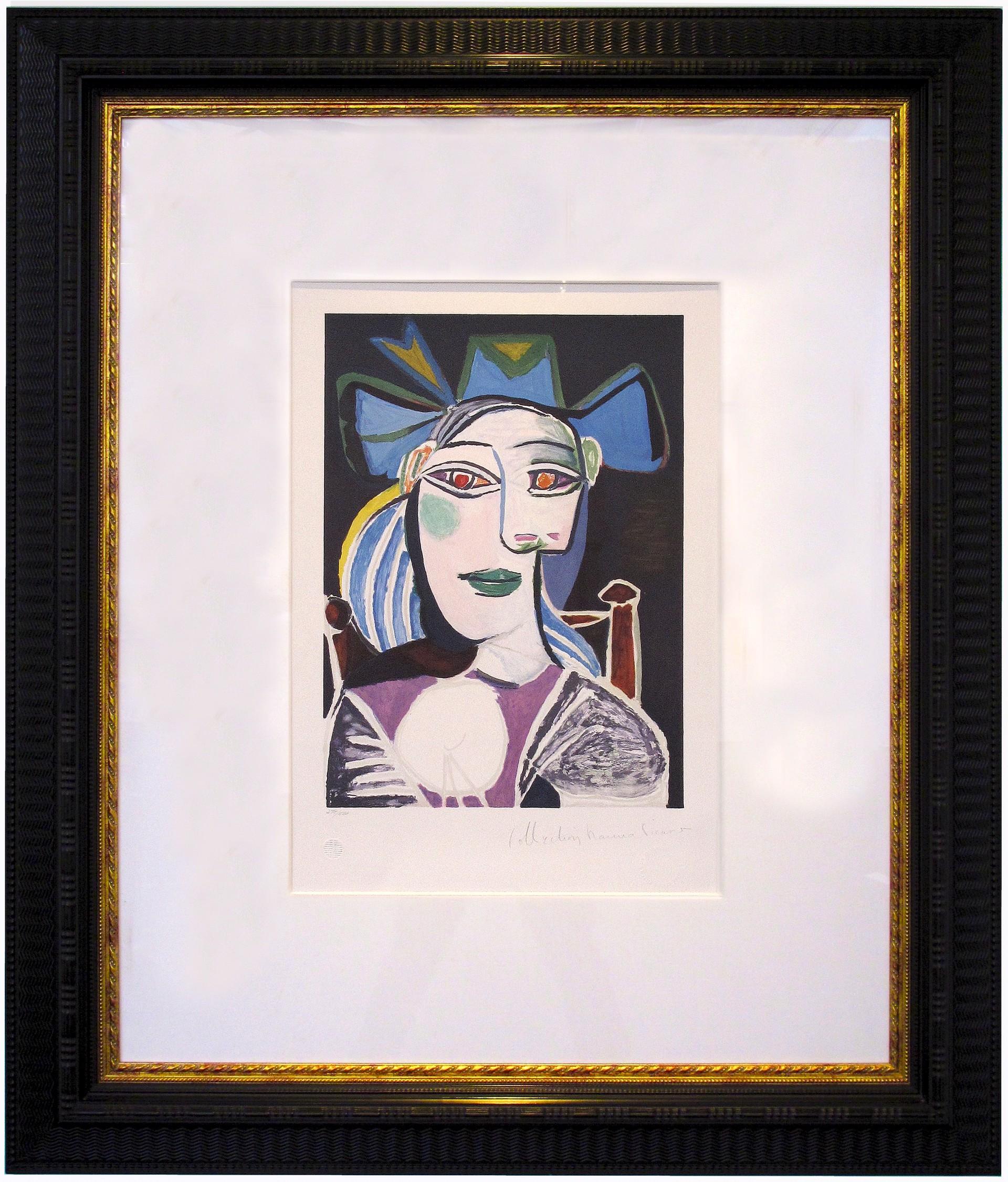 Buste De Femme Au Chapeau Bleu by Pablo Picasso