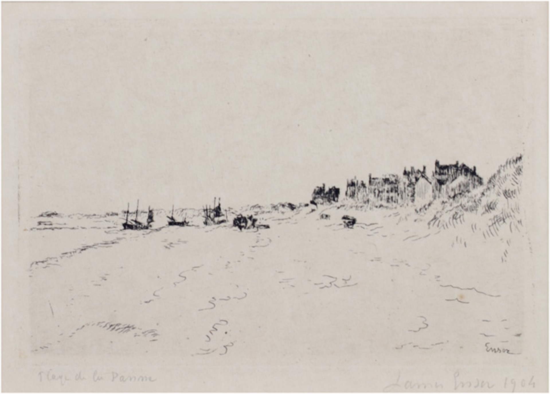 La Plage de la Panne Loys Delteil 129 volume XIX. James Ensor 134 by James Ensor