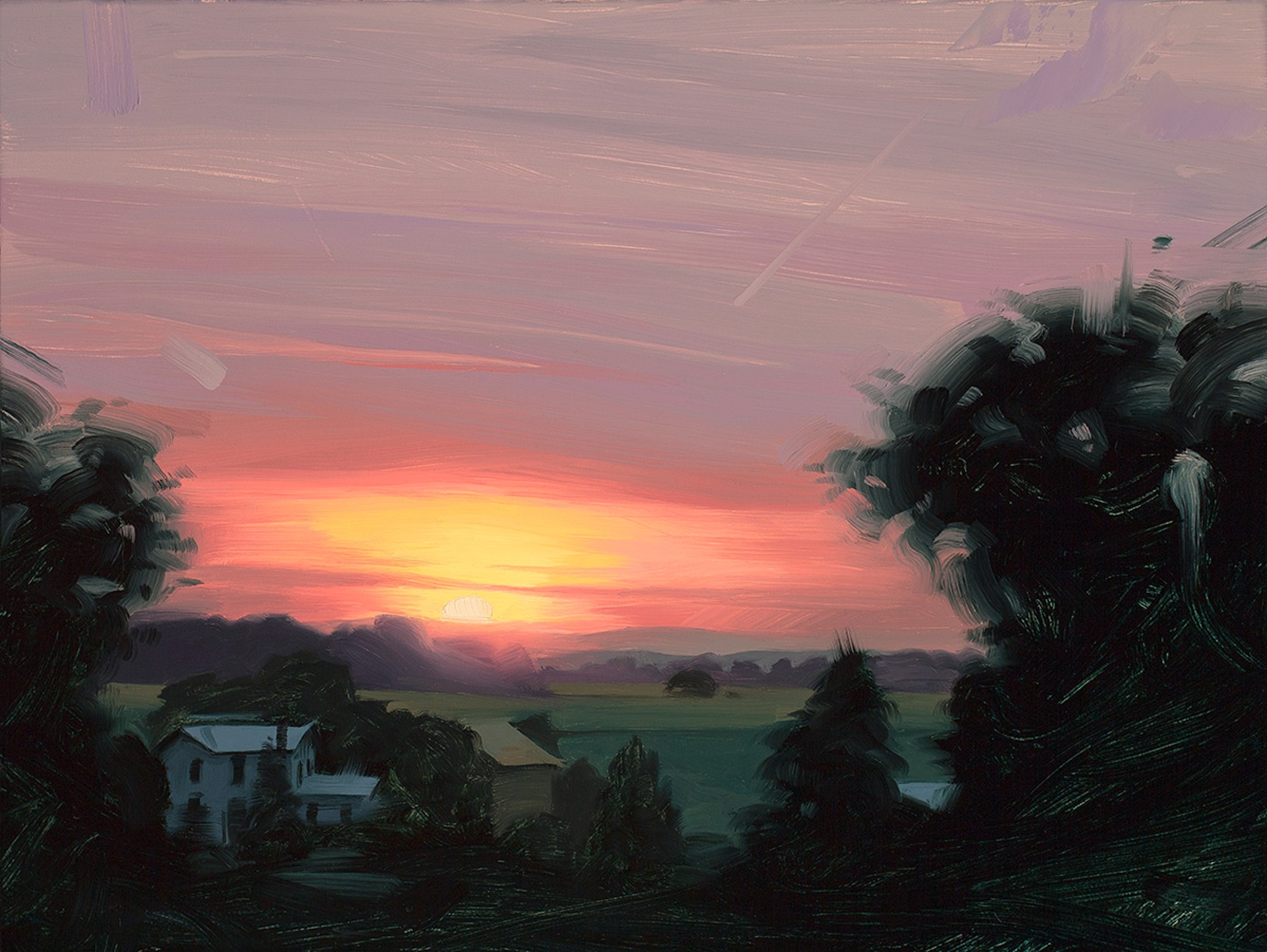Sunset Over the Farm by Rob Rey