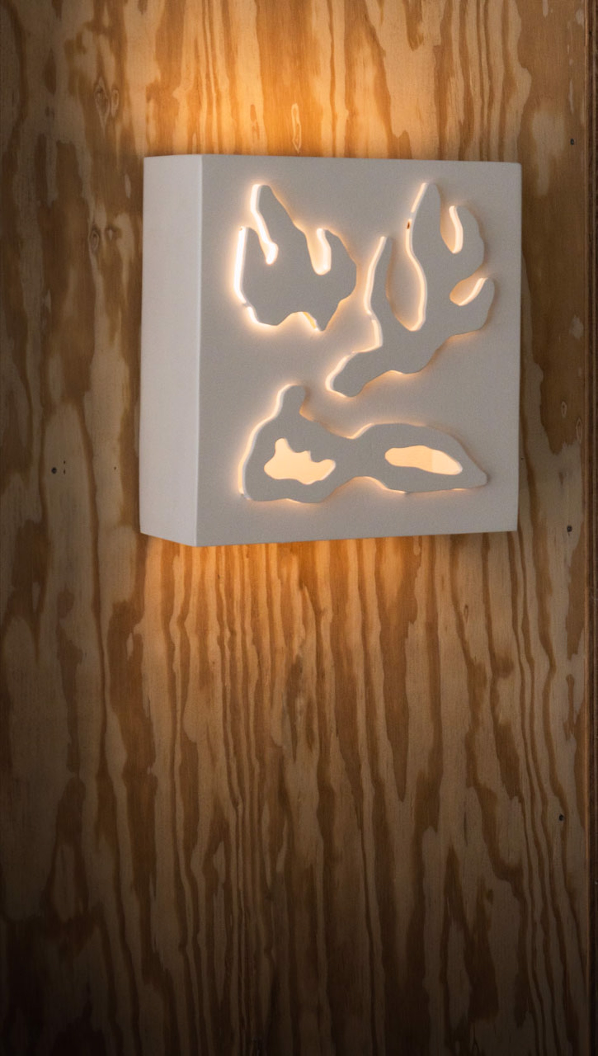Hand-Cut Wall Light by Jacques Jarrige