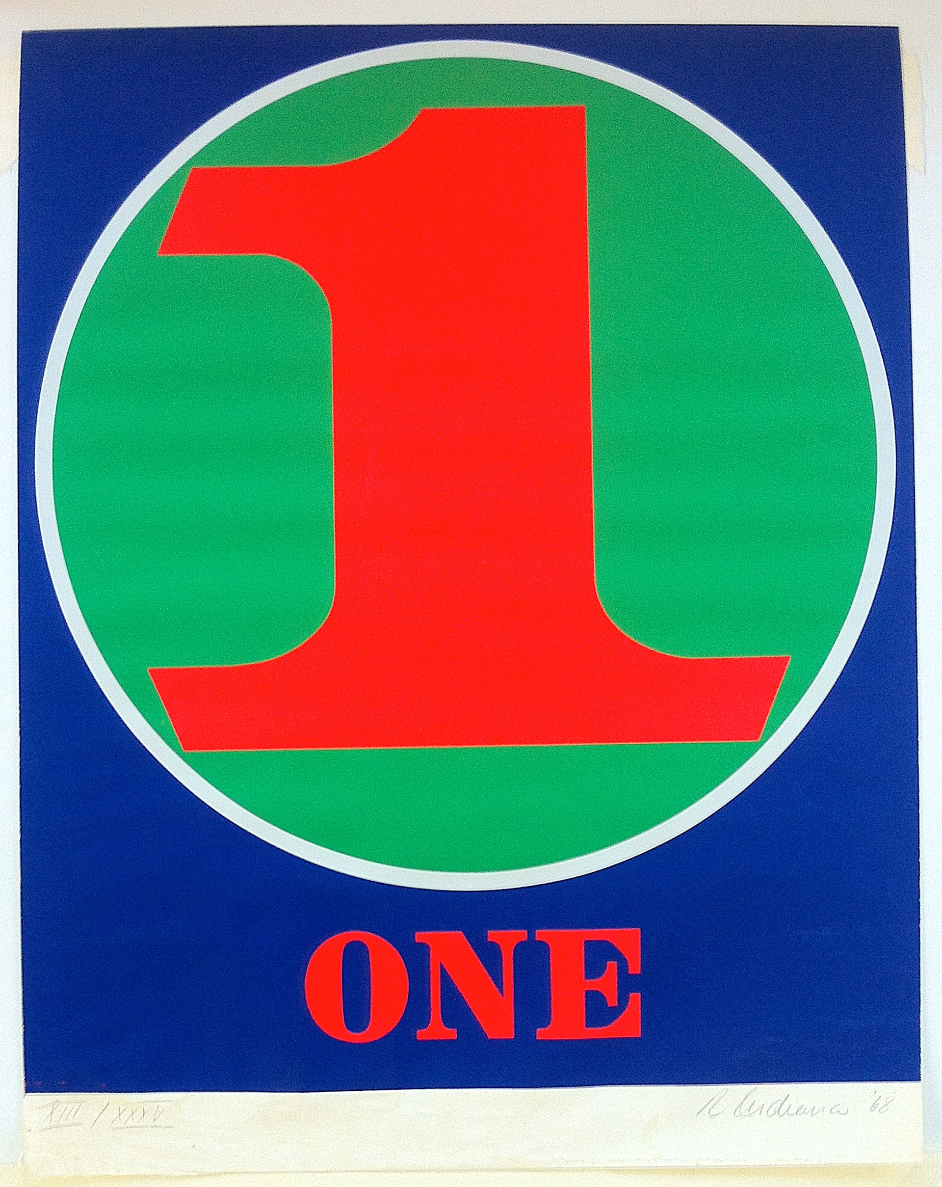 One, from Numbers portfolio by Robert Indiana