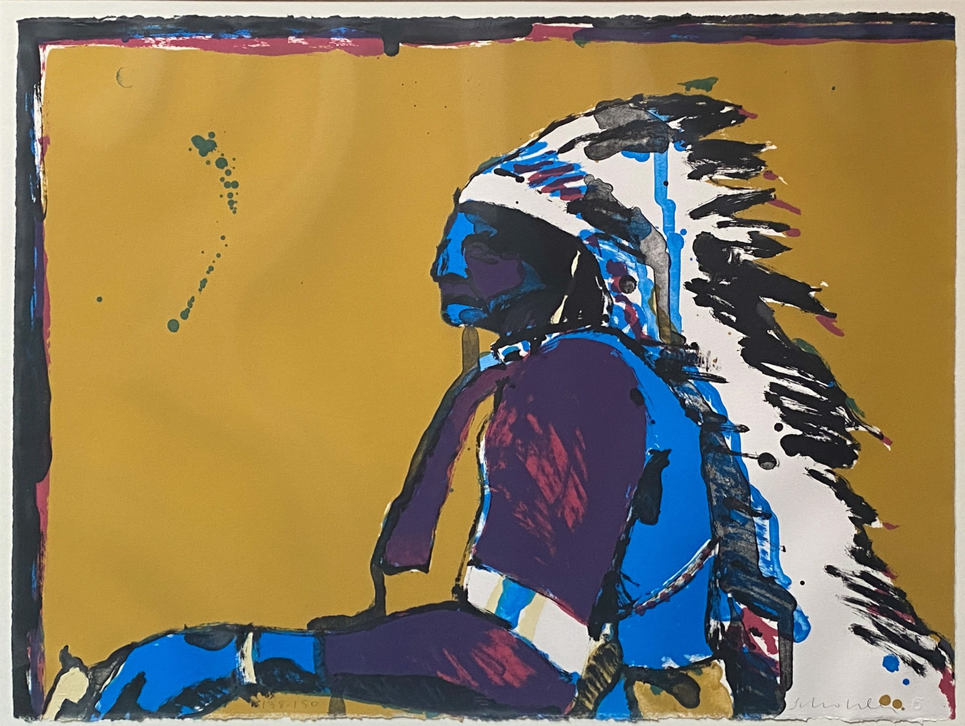 Indian with Pistol by Fritz Scholder