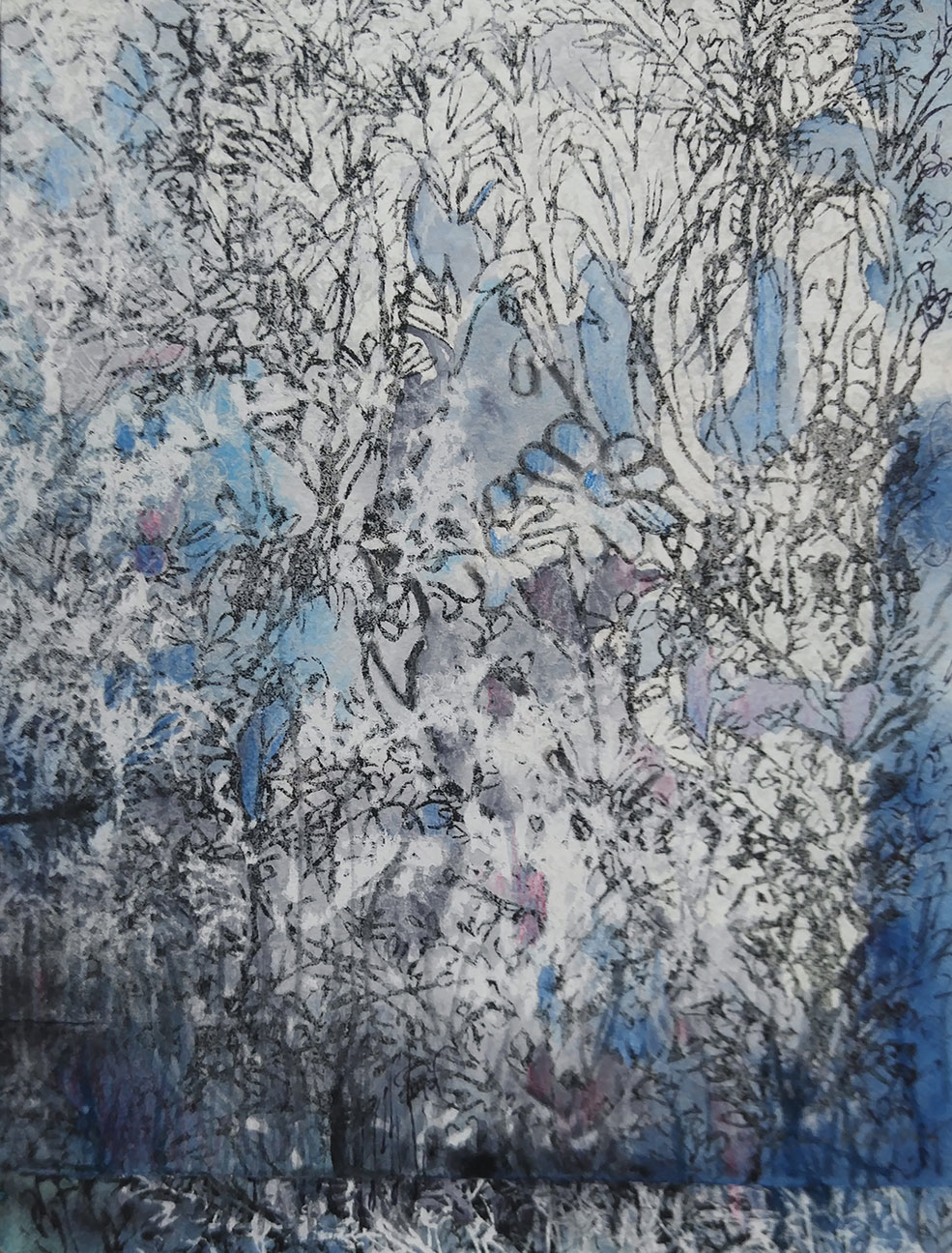 Blue Garden i by Pantea Karimi