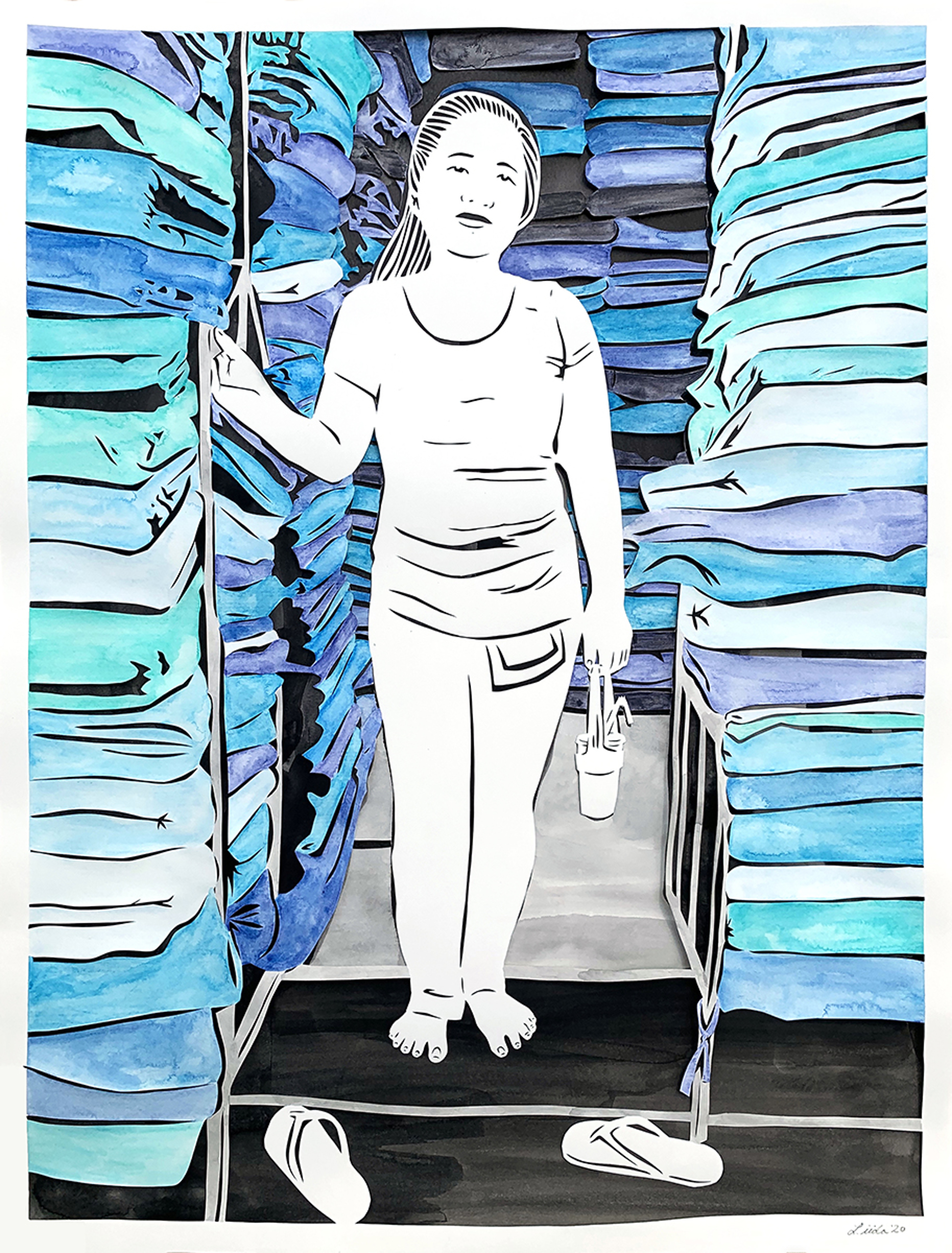 22. Thirsty: The Habits of a Phnom Penh Fabric Seller by Lauren Iida