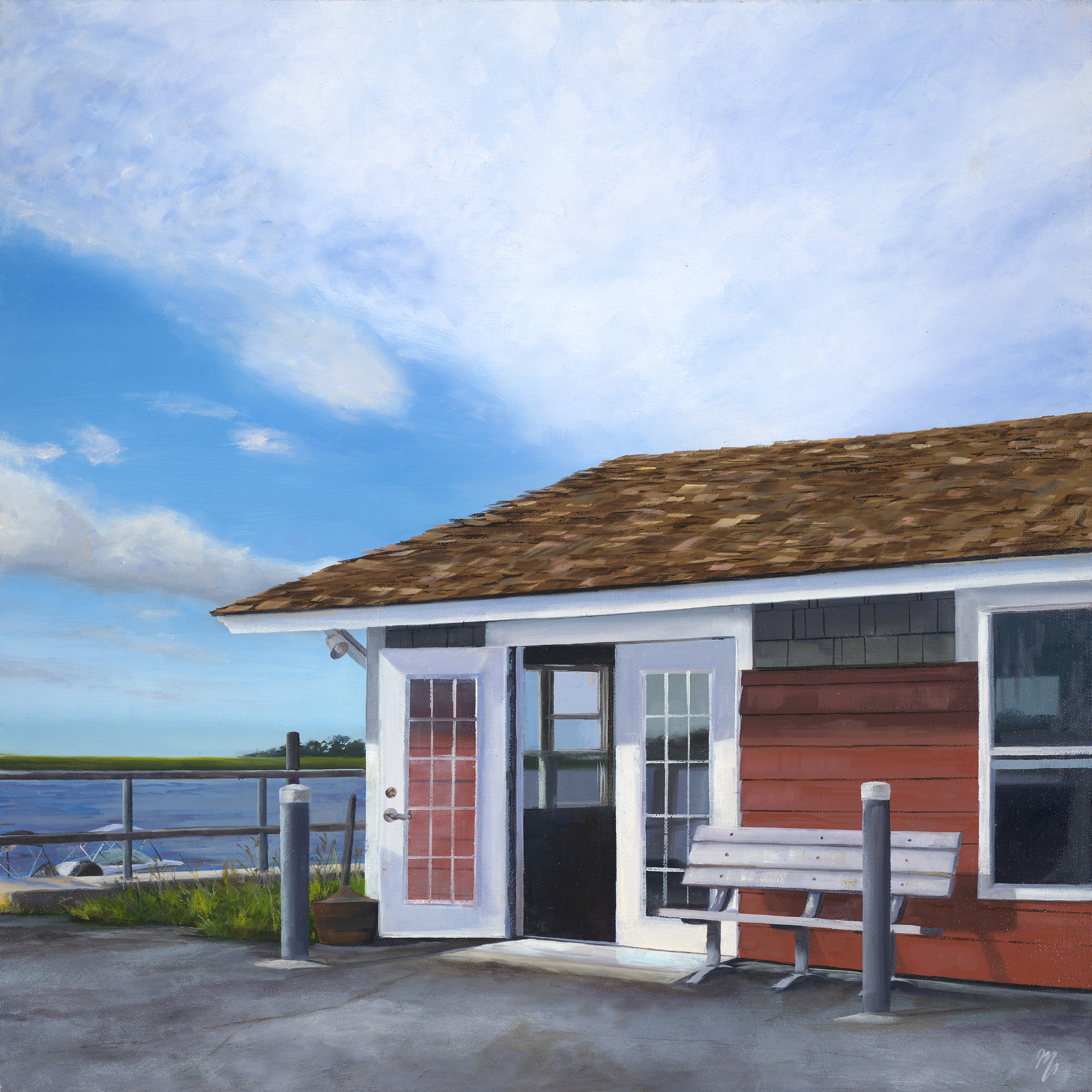 Waiting for the Ferry  by Mary VanLandingham
