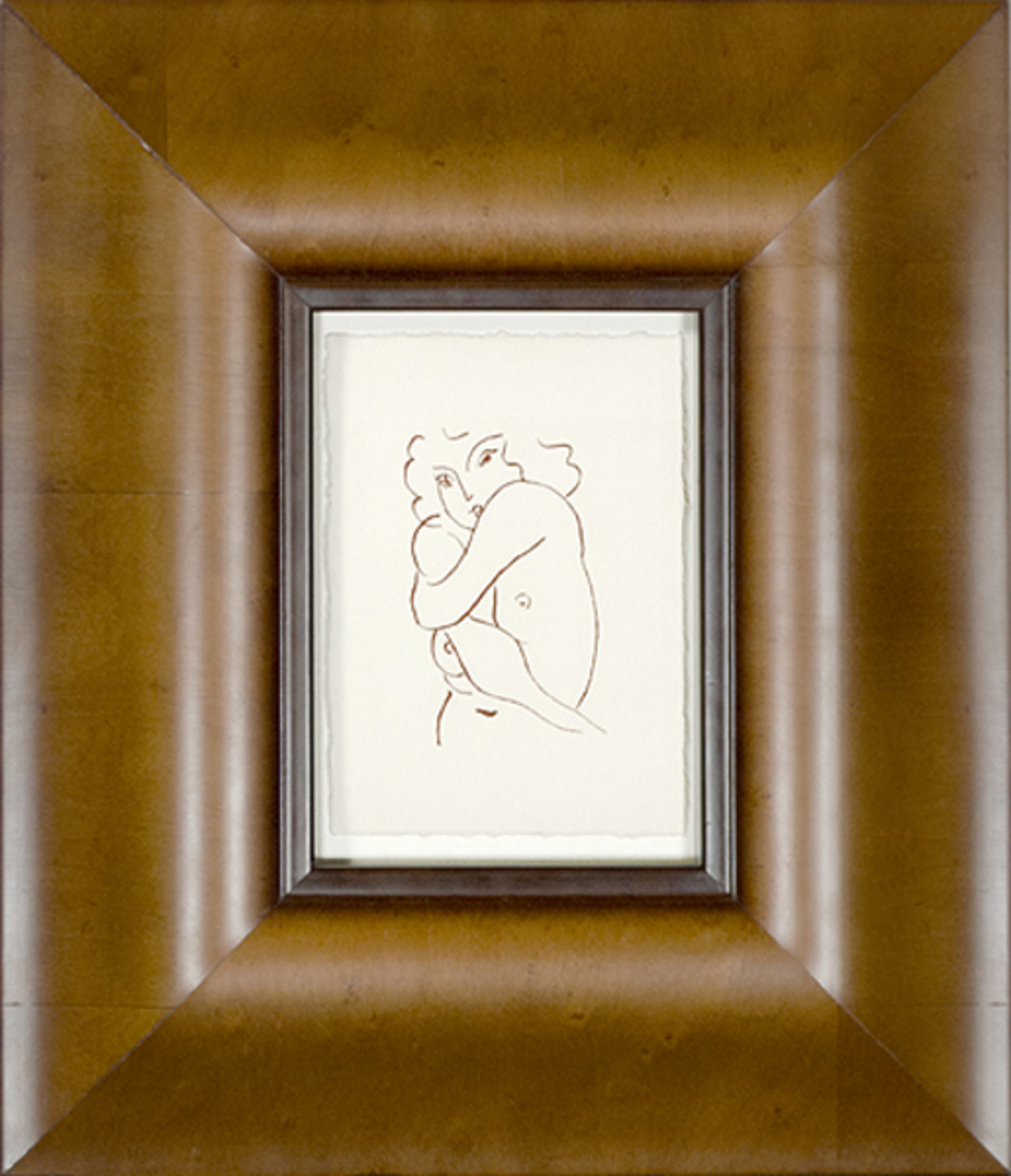 Nude w/Arms Entwined (From Florilege des Amours de Ronsard Portfolio) by Henri Matisse