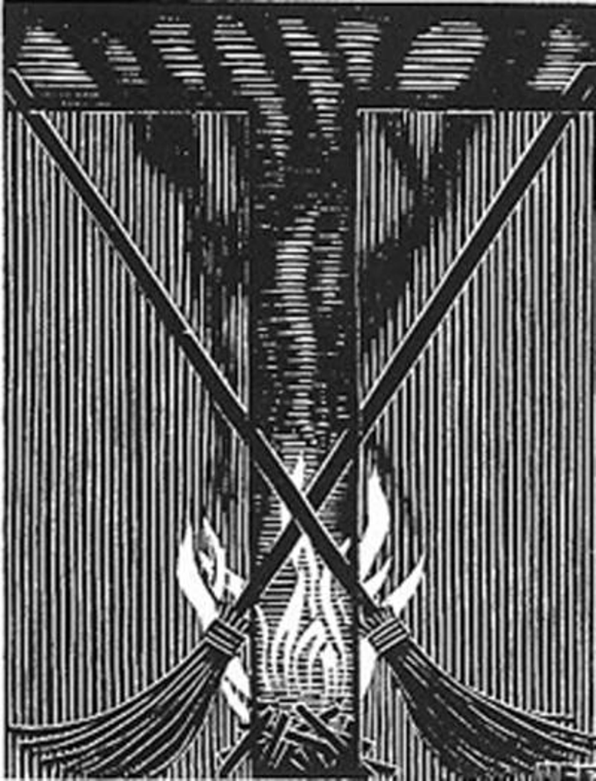 Scholastica - Initial T by M.C. Escher