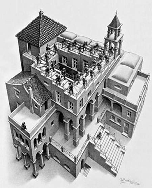 Ascending & Descending by M.C. Escher