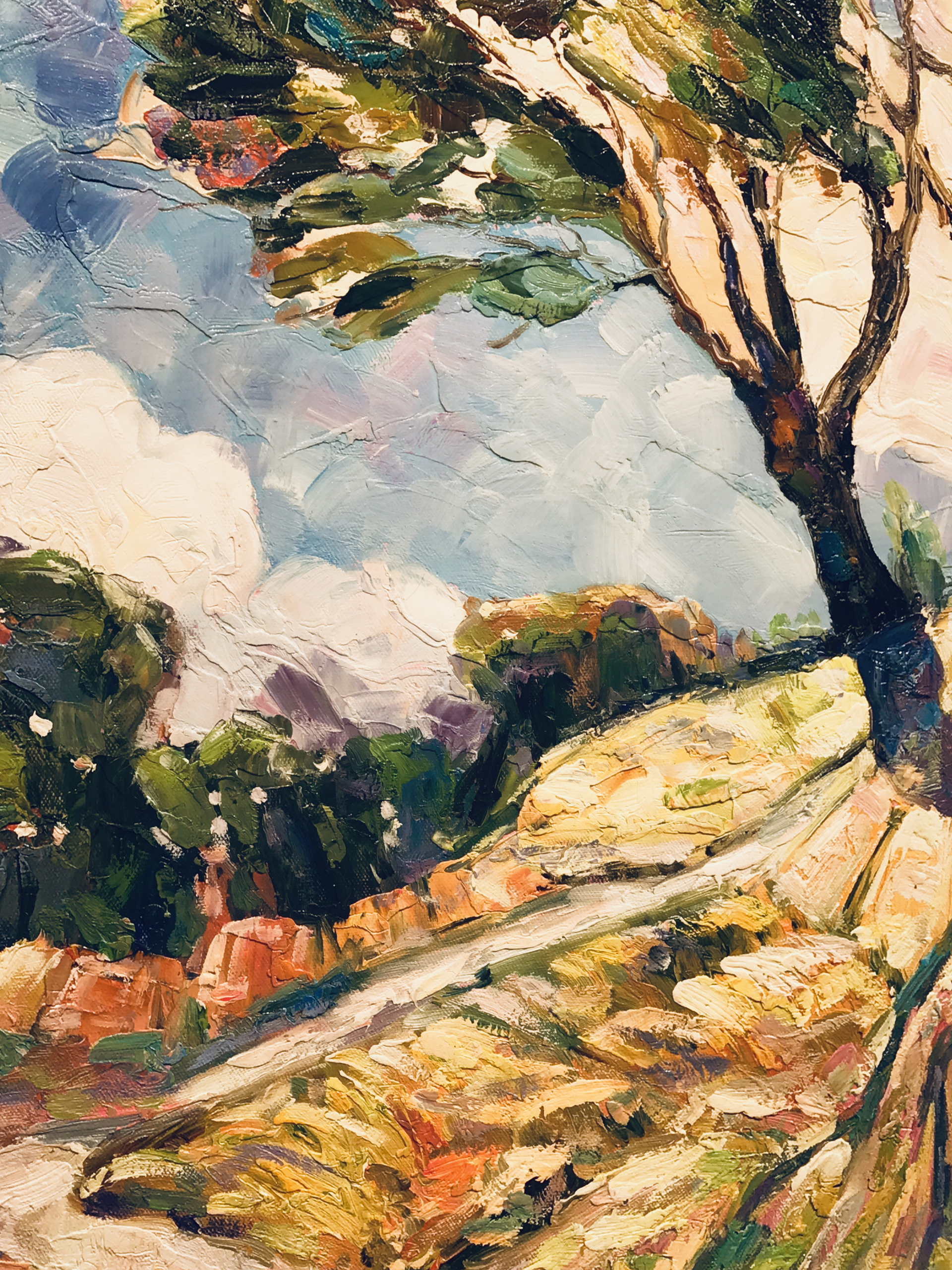 BRIGHT TREES ON HILLSIDE by VARIOUS WORKS