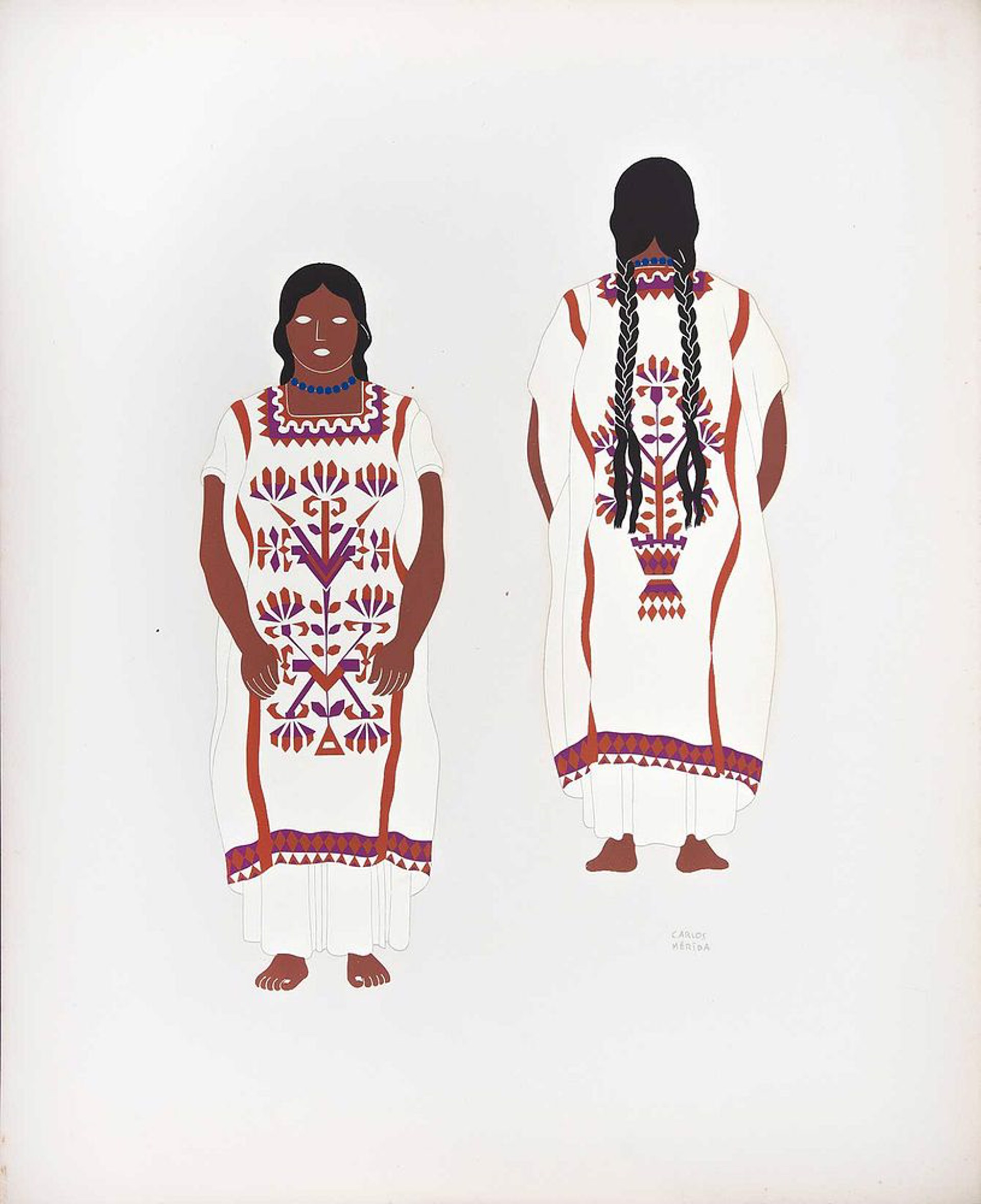 Chinantecs of the State of Oaxaca by Carlos Mérida (1891 - 1985)