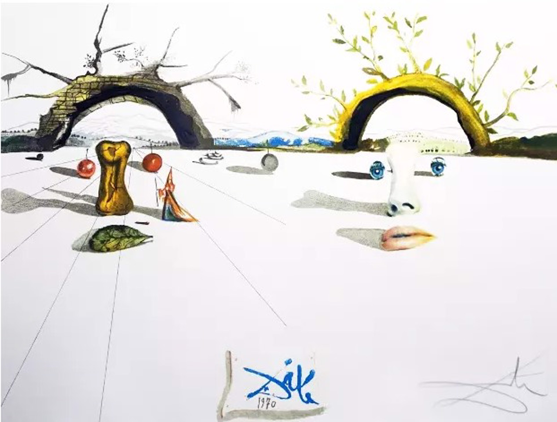 Salvador Dali, Winter and Summer, 1973 edition 109 of 300