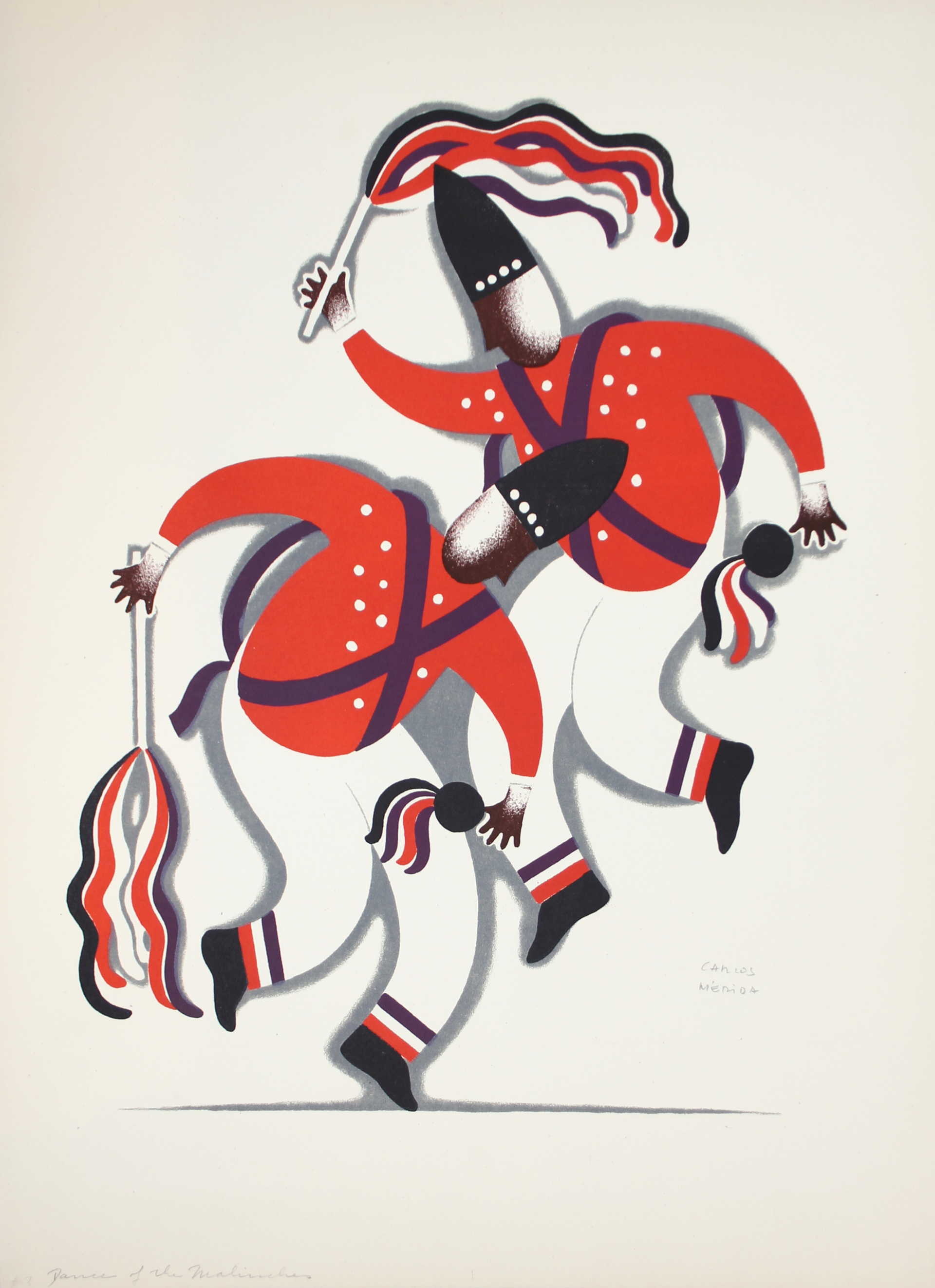 Dance of the Malinches by Carlos Mérida (1891 - 1985)
