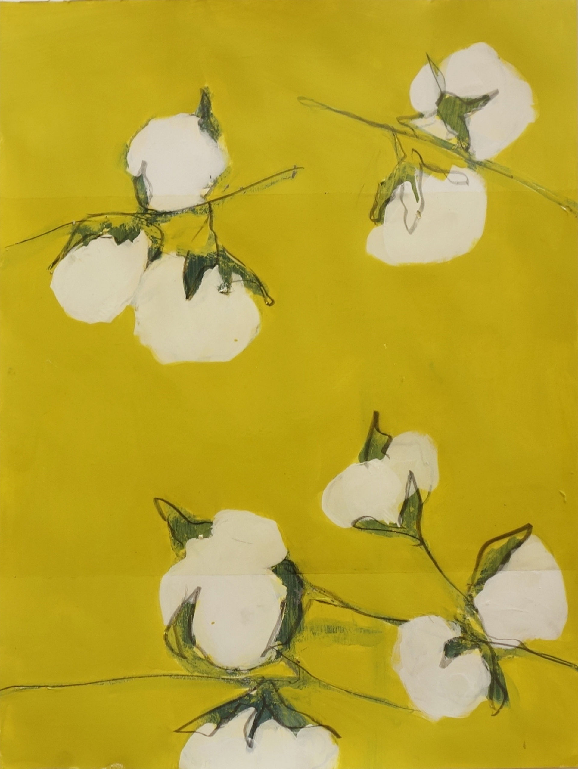 Two Cotton Branches by George Marks