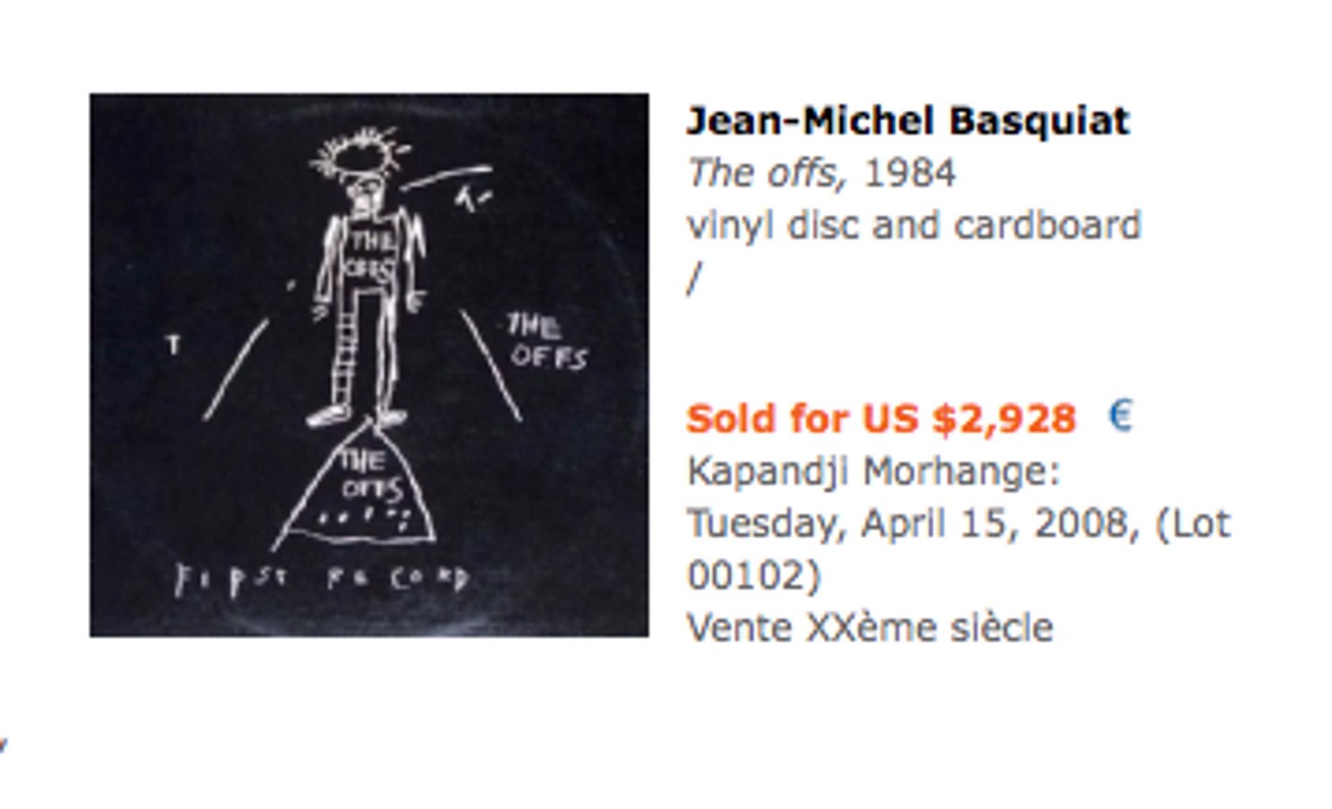Offs by Jean-Michel Basquiat