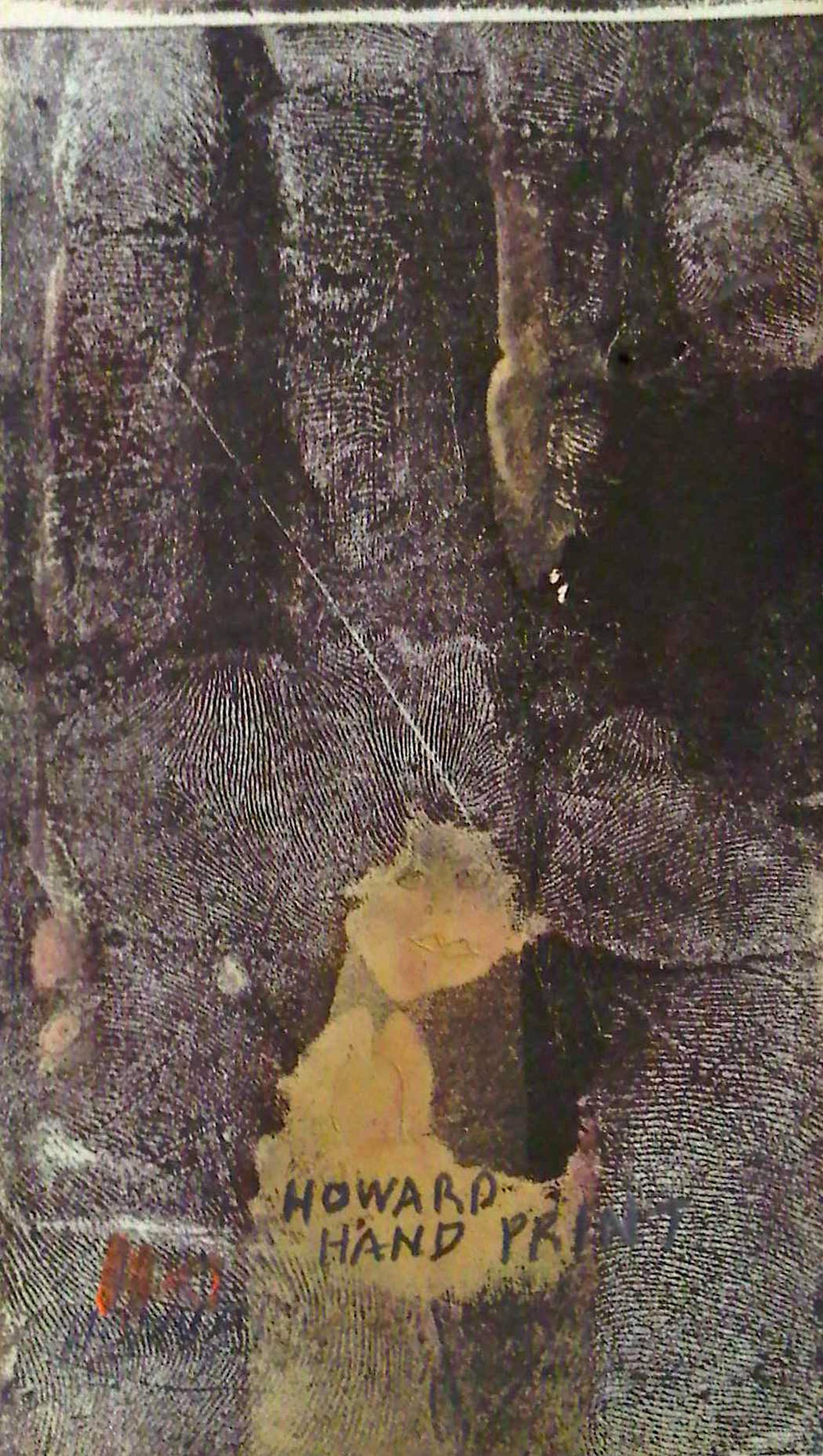 Howard's Hand Print by Howard Finster